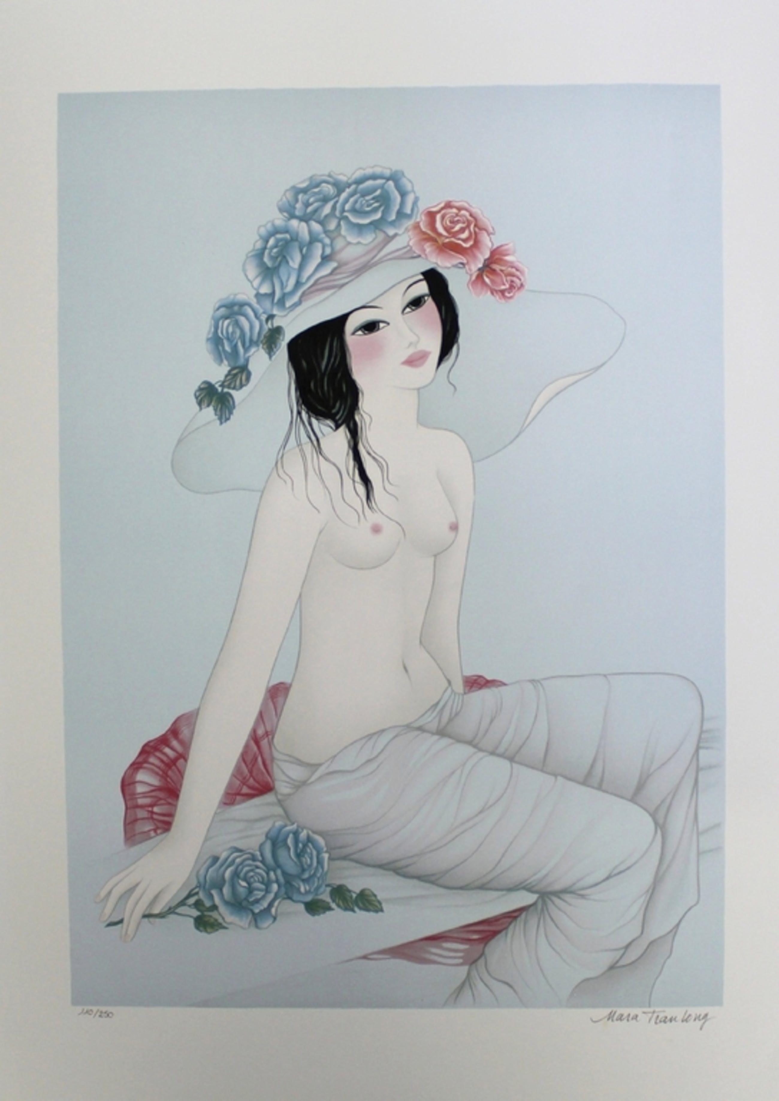 Mara Tran Long - Originele handgesigneerde kleuren litho  kopen? Bied vanaf 30!