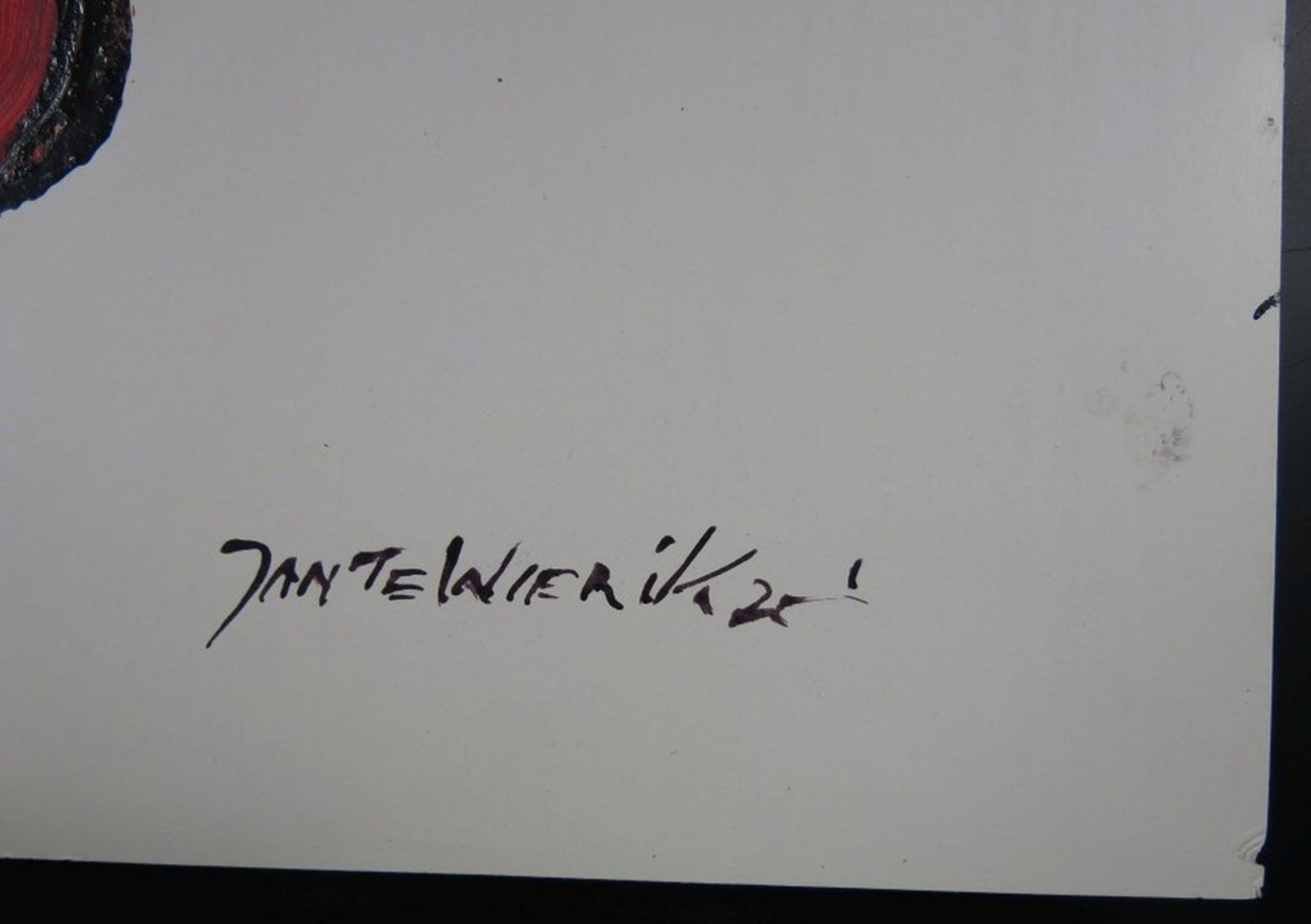 Jan te Wierik: Gemengde verftechnieken op papier, Vreemd wezen kopen? Bied vanaf 1000!