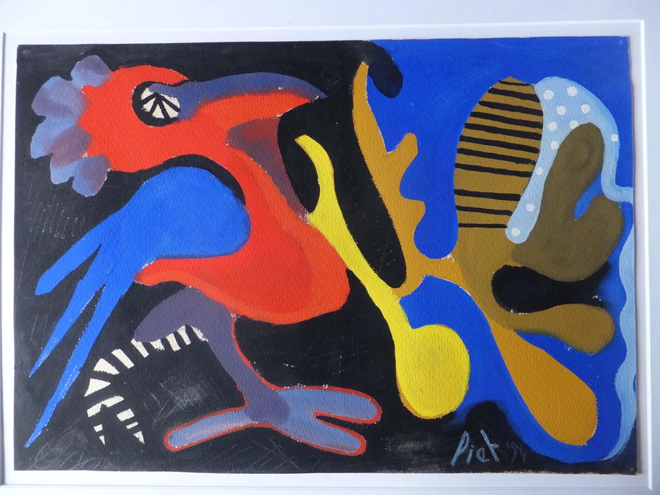 Piet van Stuivenberg (1901-1988) - vogel -  uit 1954!! kopen? Bied vanaf 245!