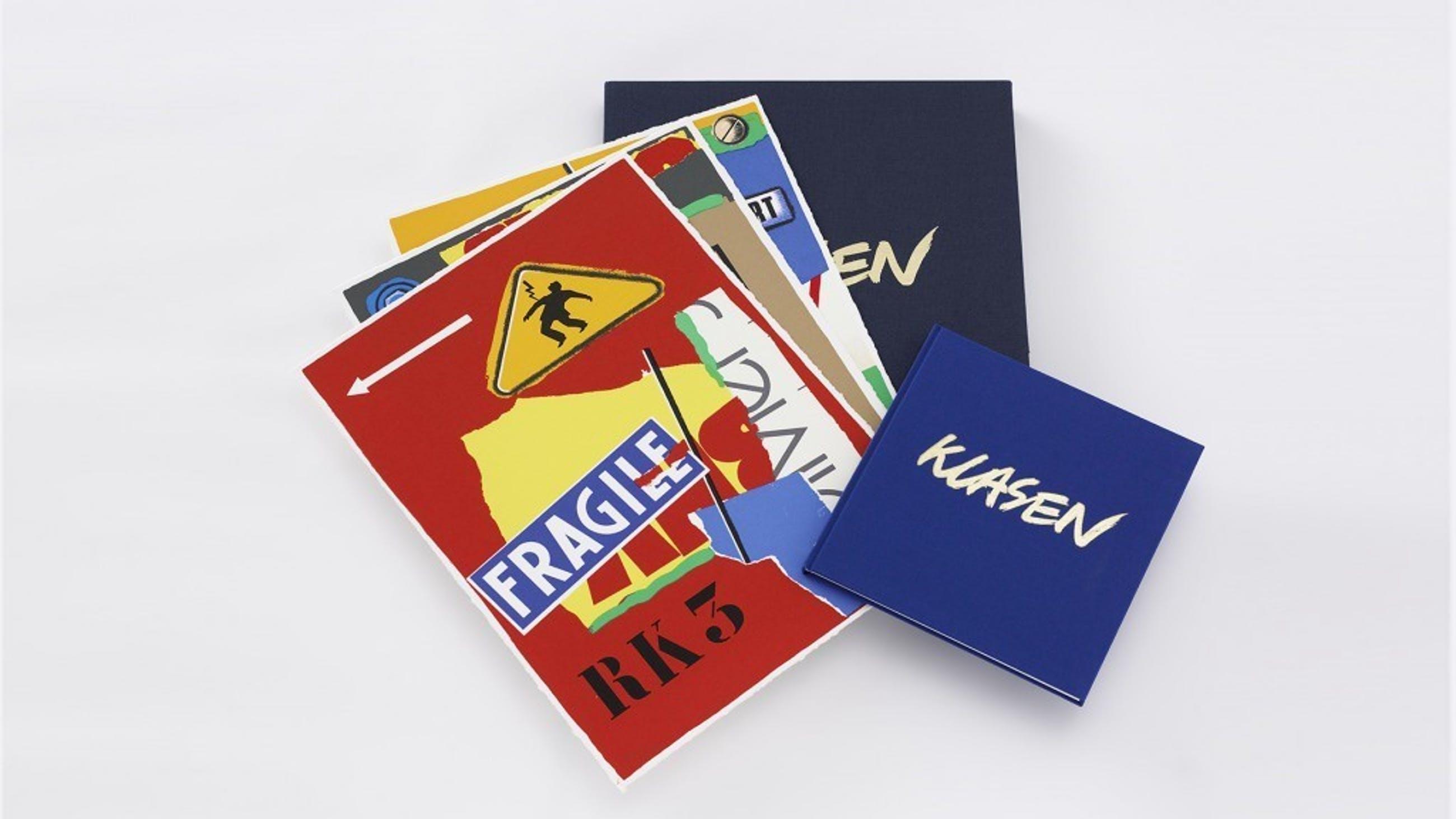 Peter Klasen: Portfolio Klasen devant le miroir de notre..., 3x zeefdruk + boek kopen? Bied vanaf 150!