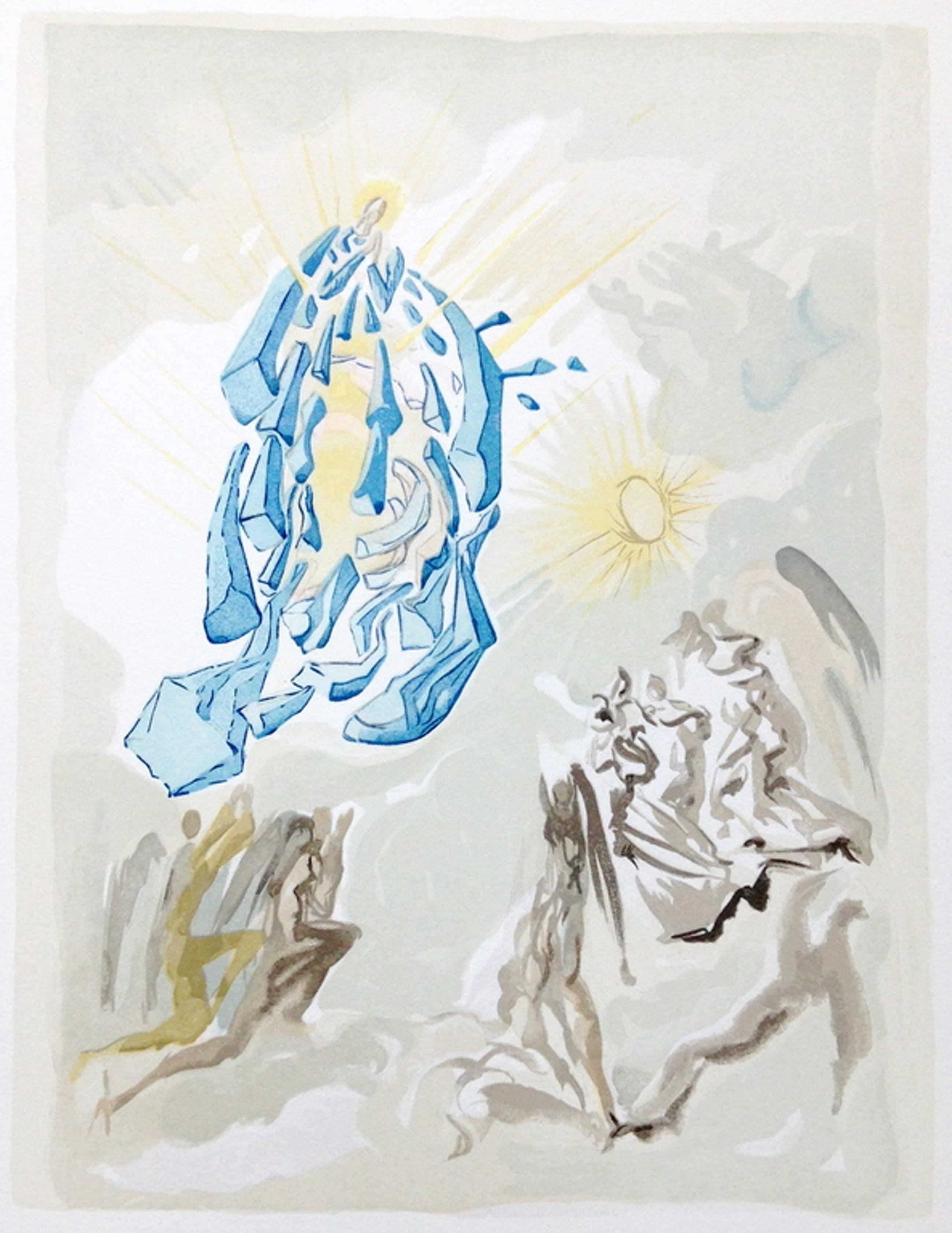 Salvador Dali, ORIGINELE HOUTGRAVURE, 'Dante recouvre la vue' kopen? Bied vanaf 175!