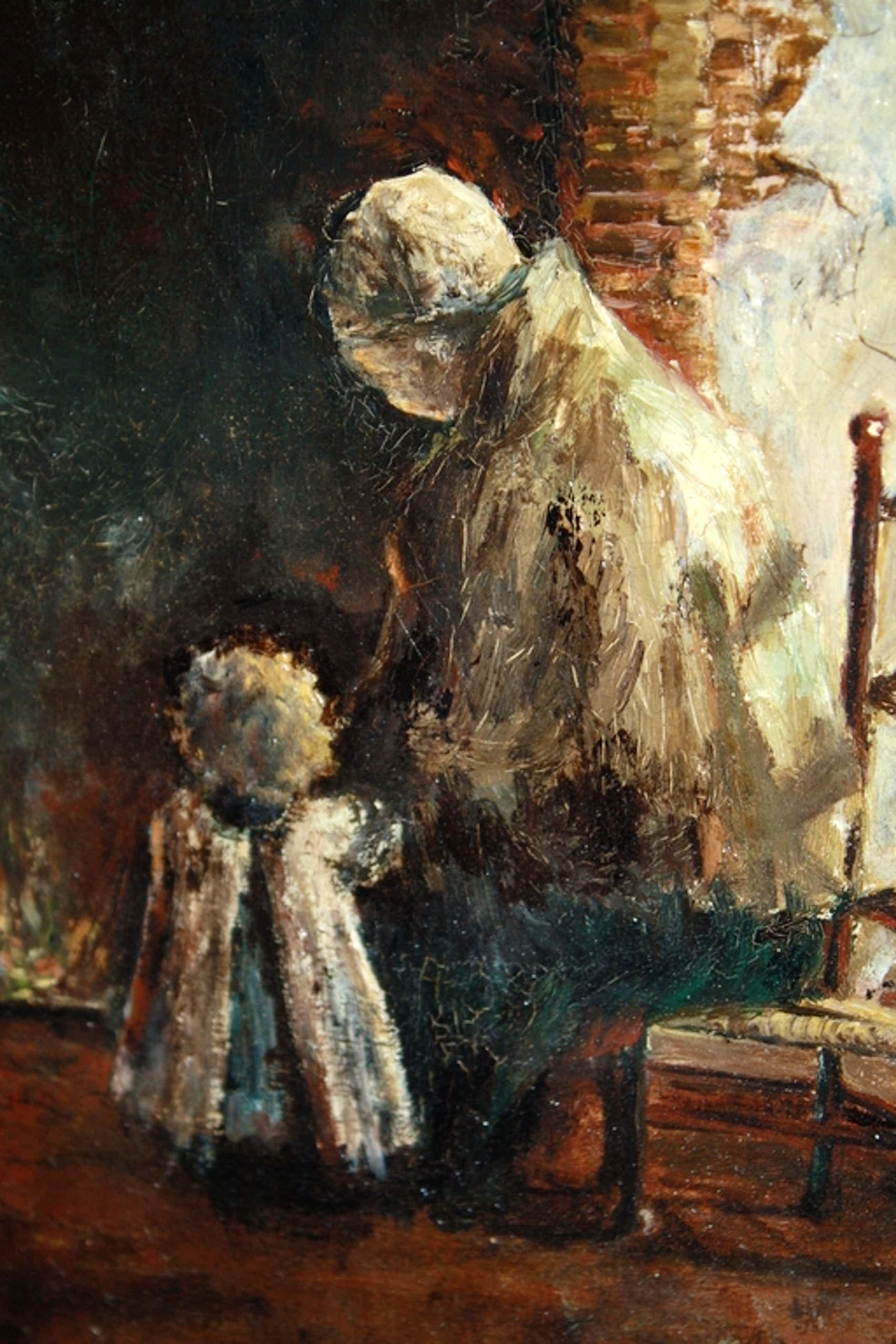E J Ligtelijn - MOEDER & KIND 1911 voor de HAARD kopen? Bied vanaf 165!