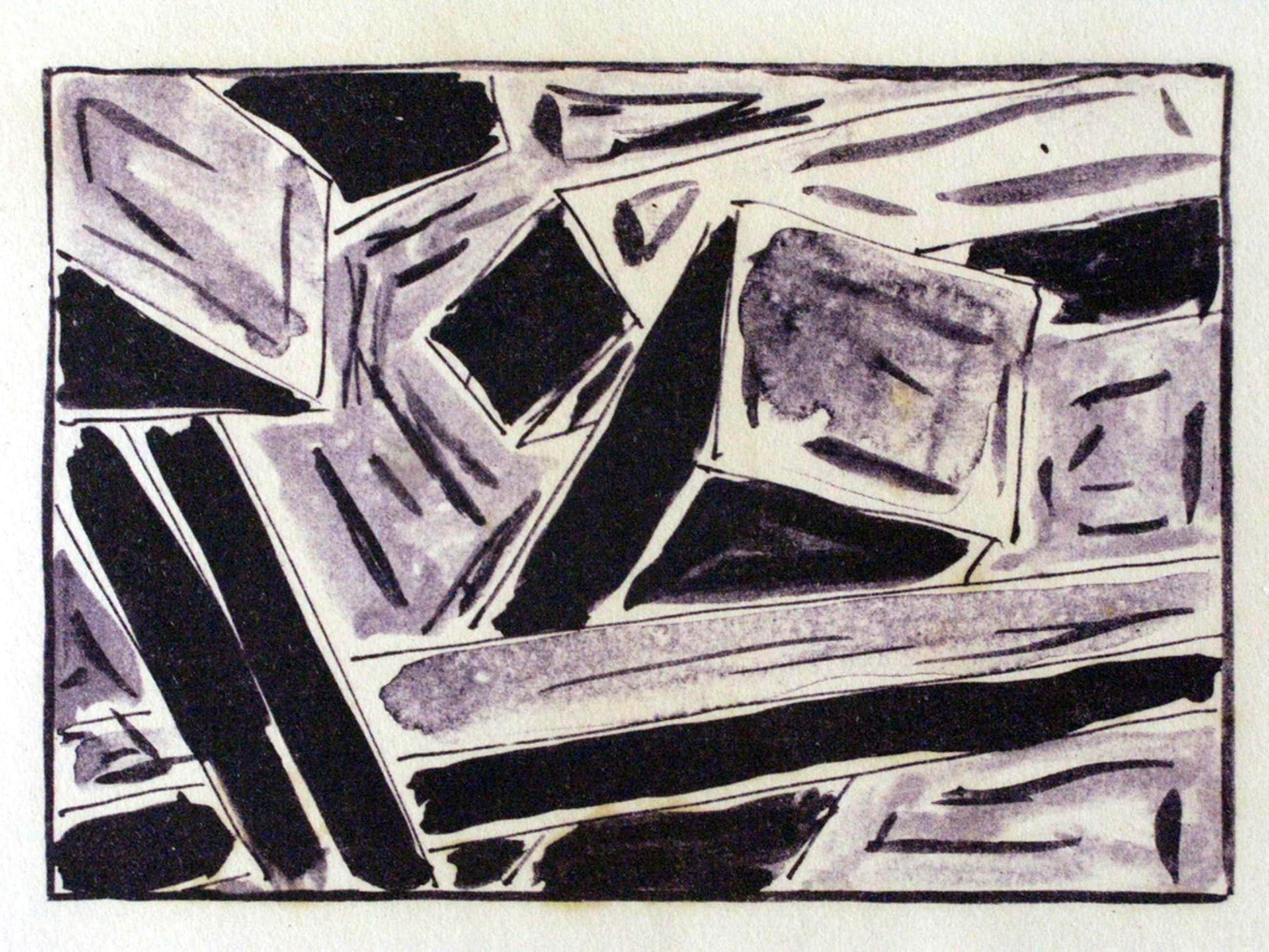 CHRIS DE BUEGER (1948)- abstract werk (1979) in kleine oplage, nr. 4 van 10 - incl  zuurvrij passepartout  kopen? Bied vanaf 35!