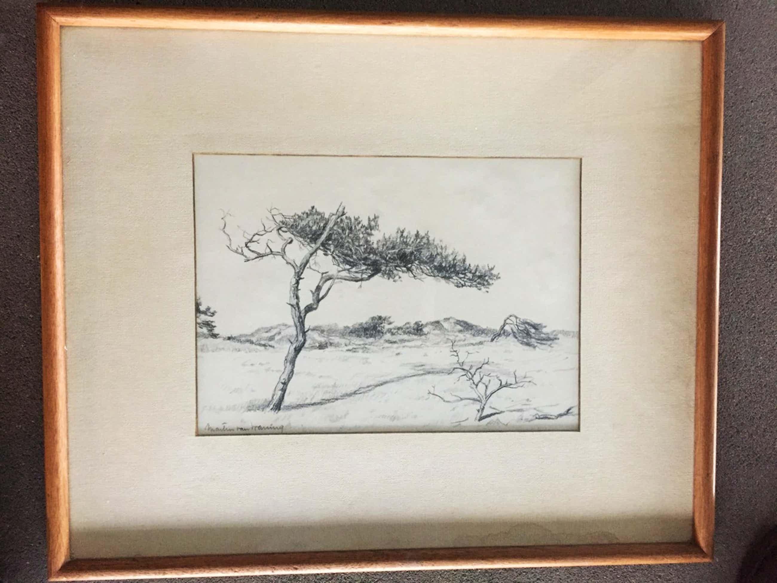 Martin van Waning, tekening, Schiermonnikoog  kopen? Bied vanaf 150!