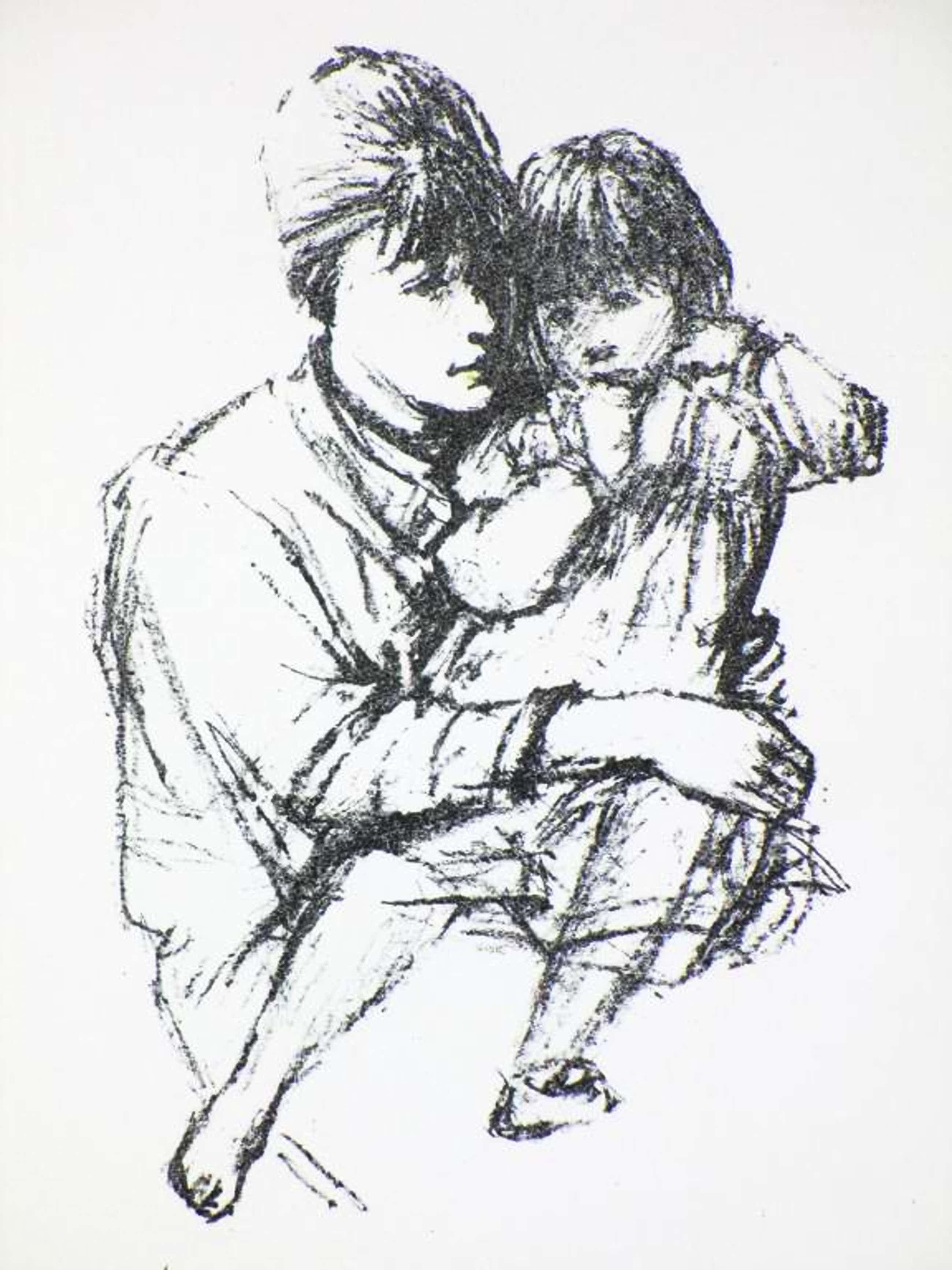 Sierk Schroder - Litho - Moeder en kind kopen? Bied vanaf 40!