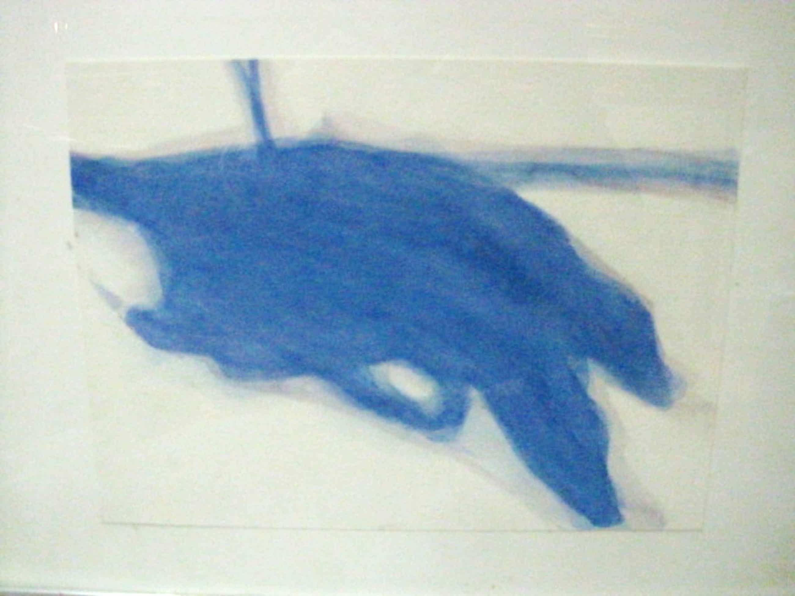 """zeldzame Eric de Nie (1944-) aquarel """"blauwe compositie"""" gesigneerd  kopen? Bied vanaf 55!"""
