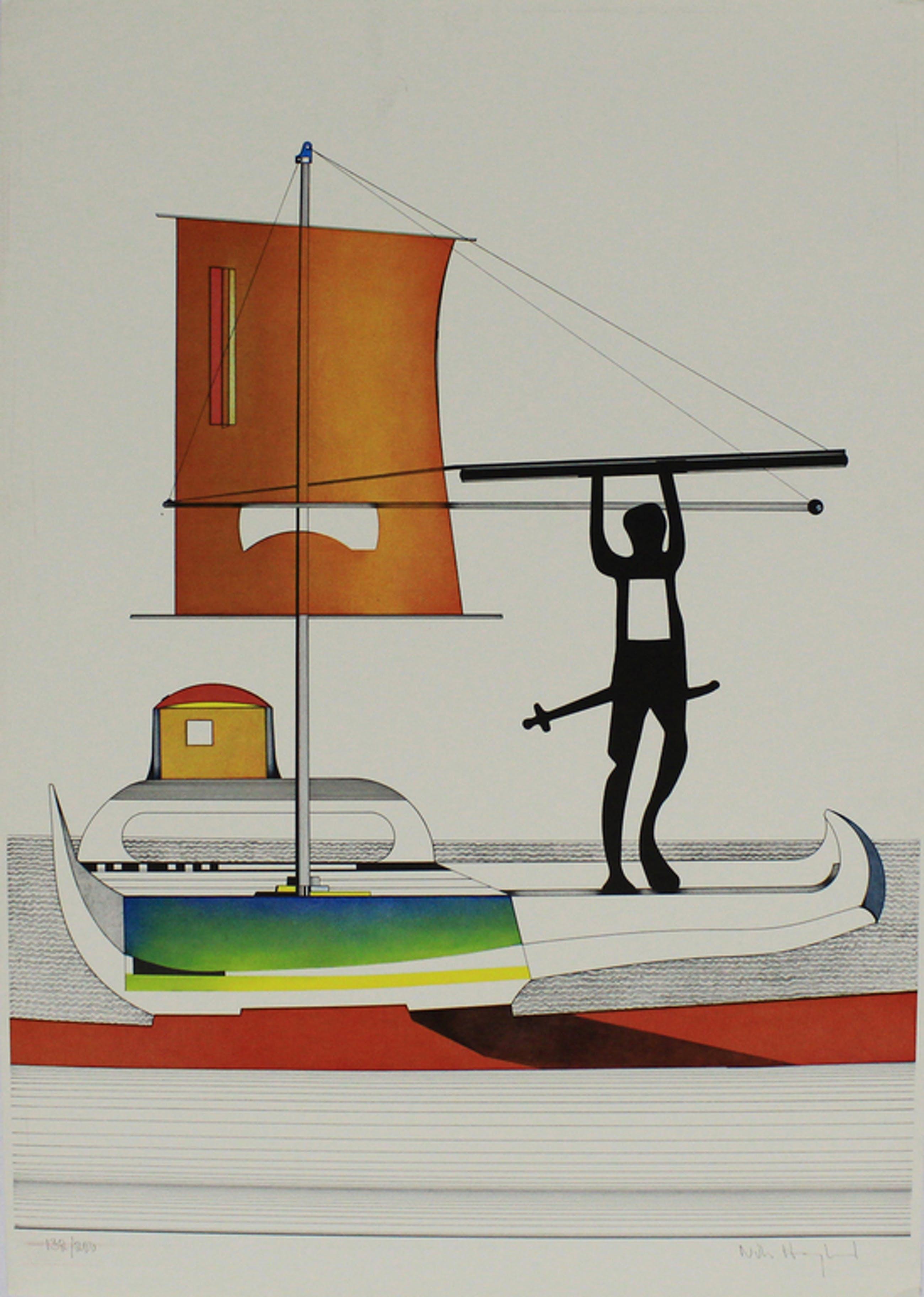 Nils Haglund - De Viking - Handgesigneerde kleuren lithografie kopen? Bied vanaf 20!