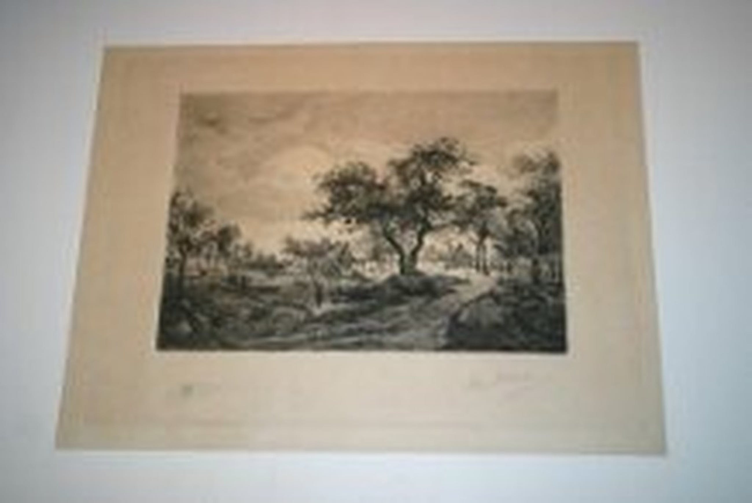 Willem Steelink (1858-1928)originele ets handgesigneerd  & watermerk op origineel Japon papier, kopen? Bied vanaf 1!