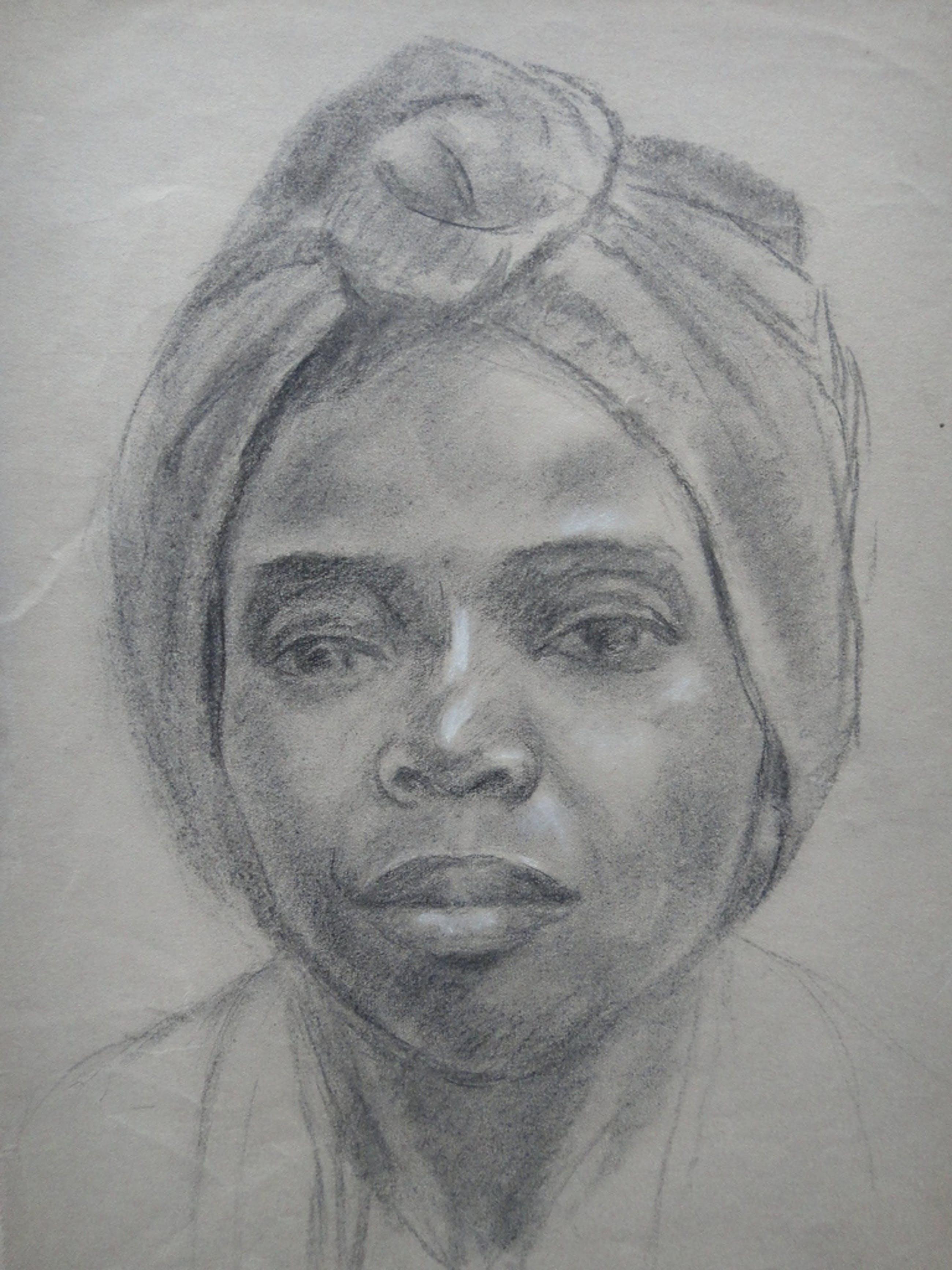 Jan (Johannes Maria) Groenestein (ta), tekening, portret van meisje kopen? Bied vanaf 1!