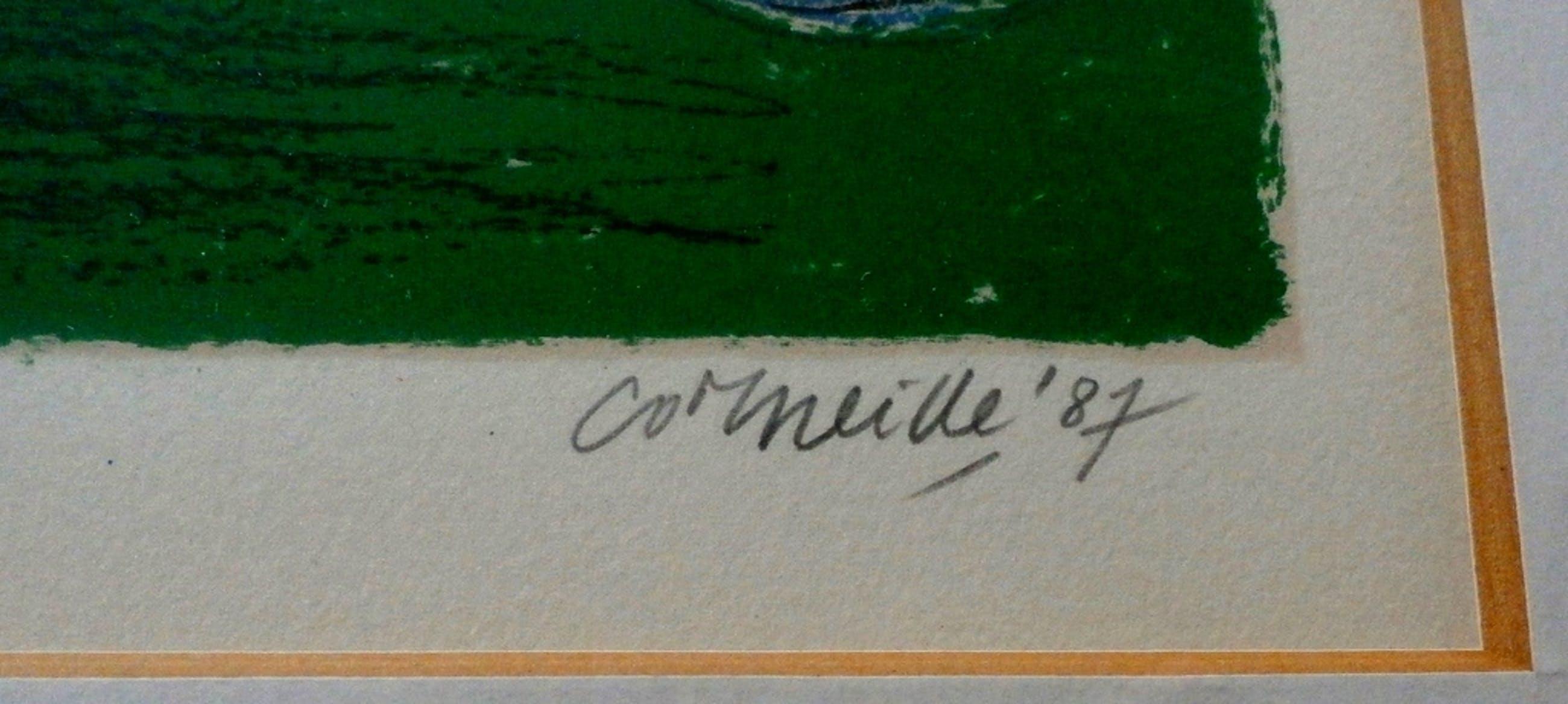 Corneille - ingelijste litho: Les Tigres amoureux 2 - 1987 kopen? Bied vanaf 199!