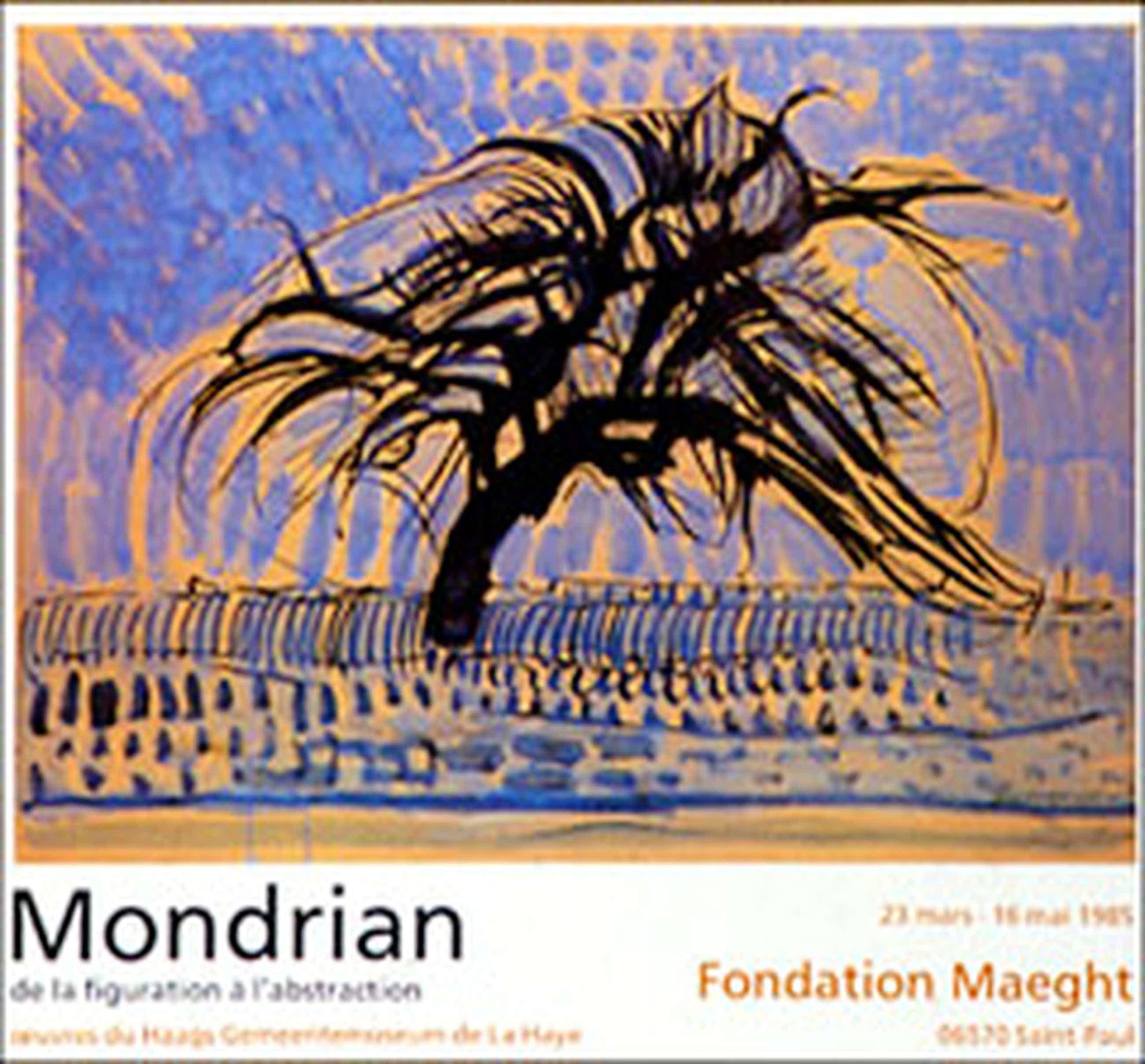 Piet Mondriaan: affiche in 4 kleurendruk uit 1985 kopen? Bied vanaf 46!