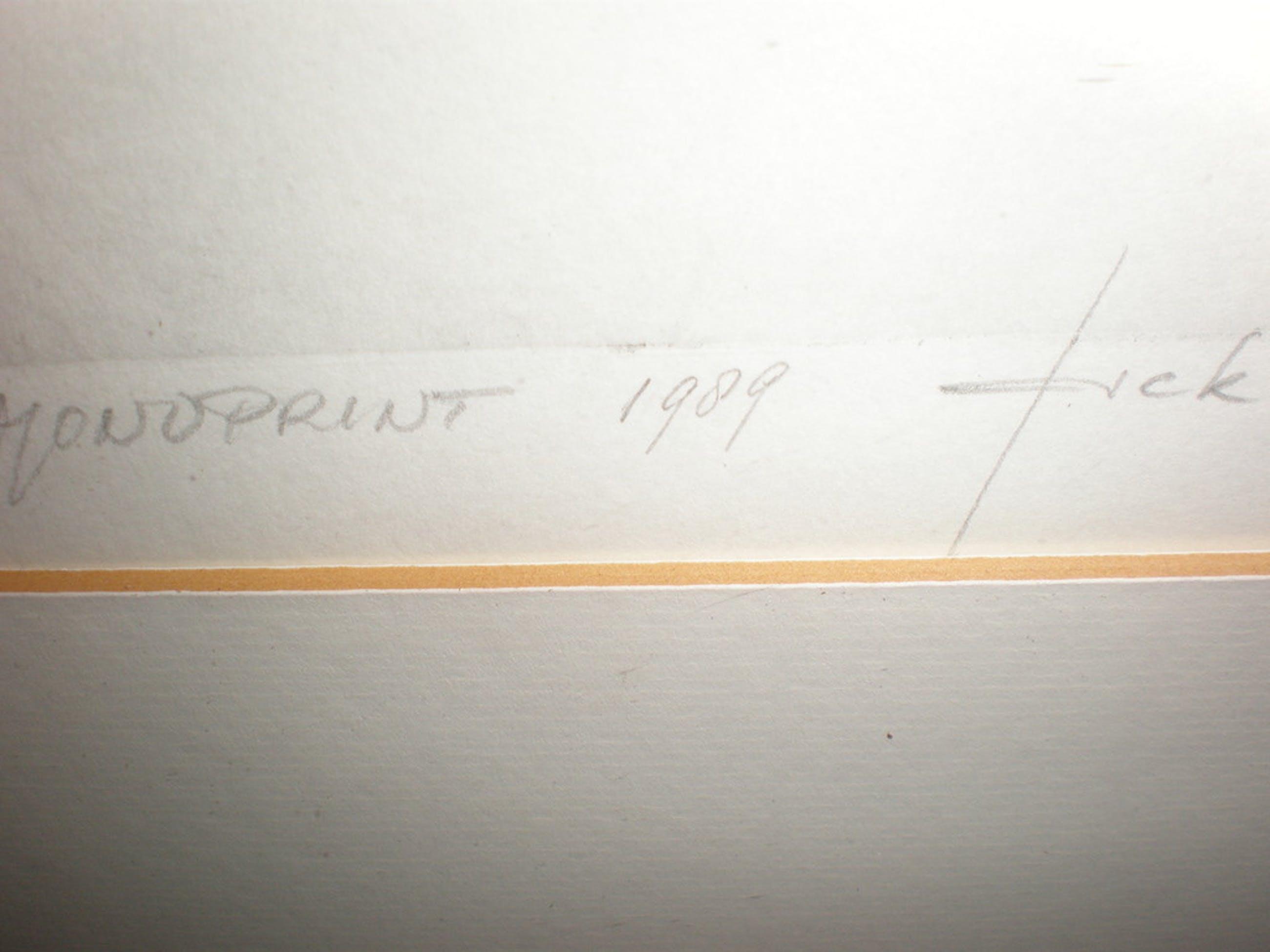 Jack Poell - monoprint 1989 kopen? Bied vanaf 75!
