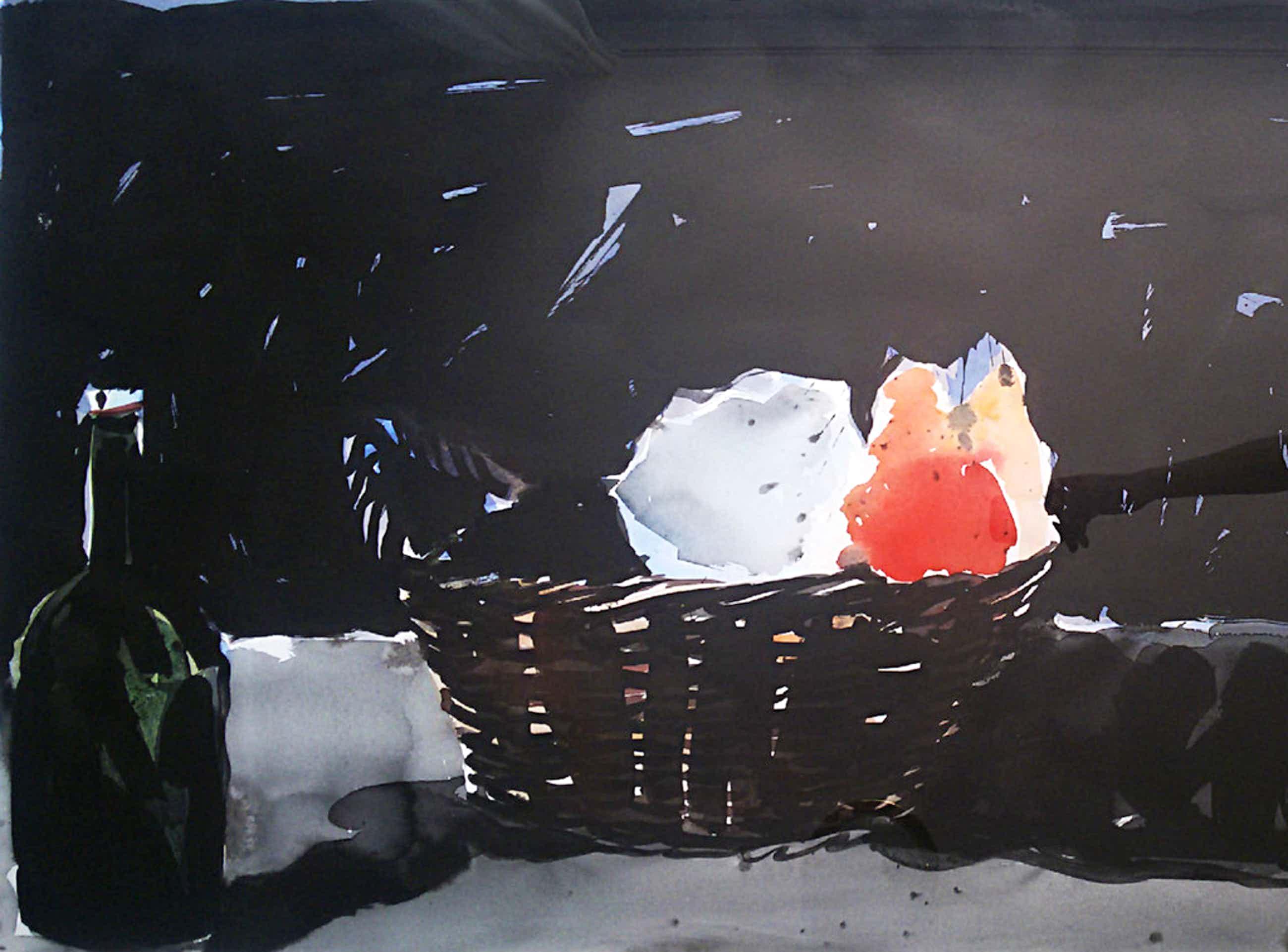 Henk Westein - Hommage aan Zurburan, aquarel (mooi ingelijst, zeer groot) kopen? Bied vanaf 195!