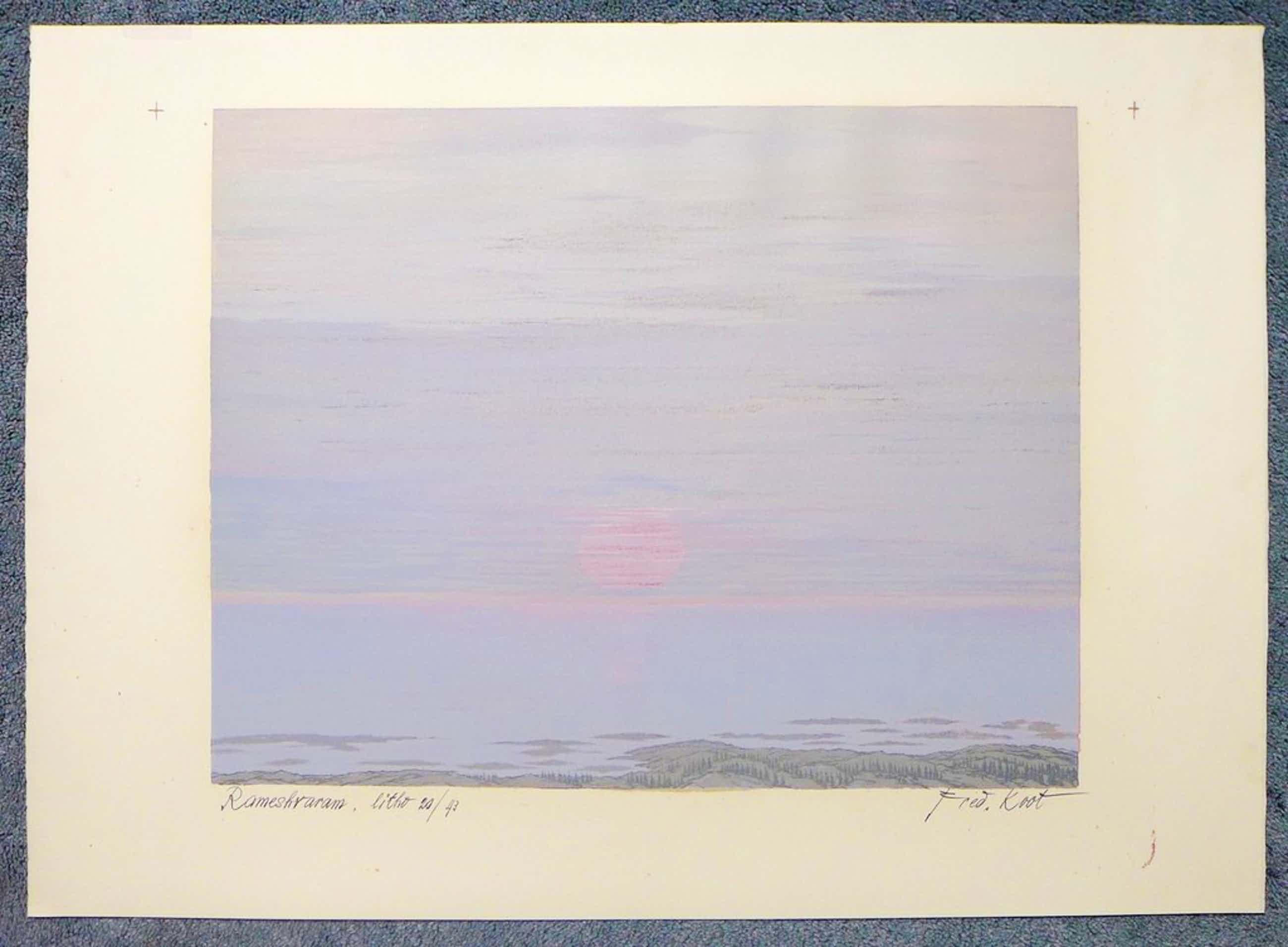 Fred Koot - Fred Koot, litho, titel Rameshraram oplage 20/43 beeldformaat 35 x 44.5 cm.  kopen? Bied vanaf 45!