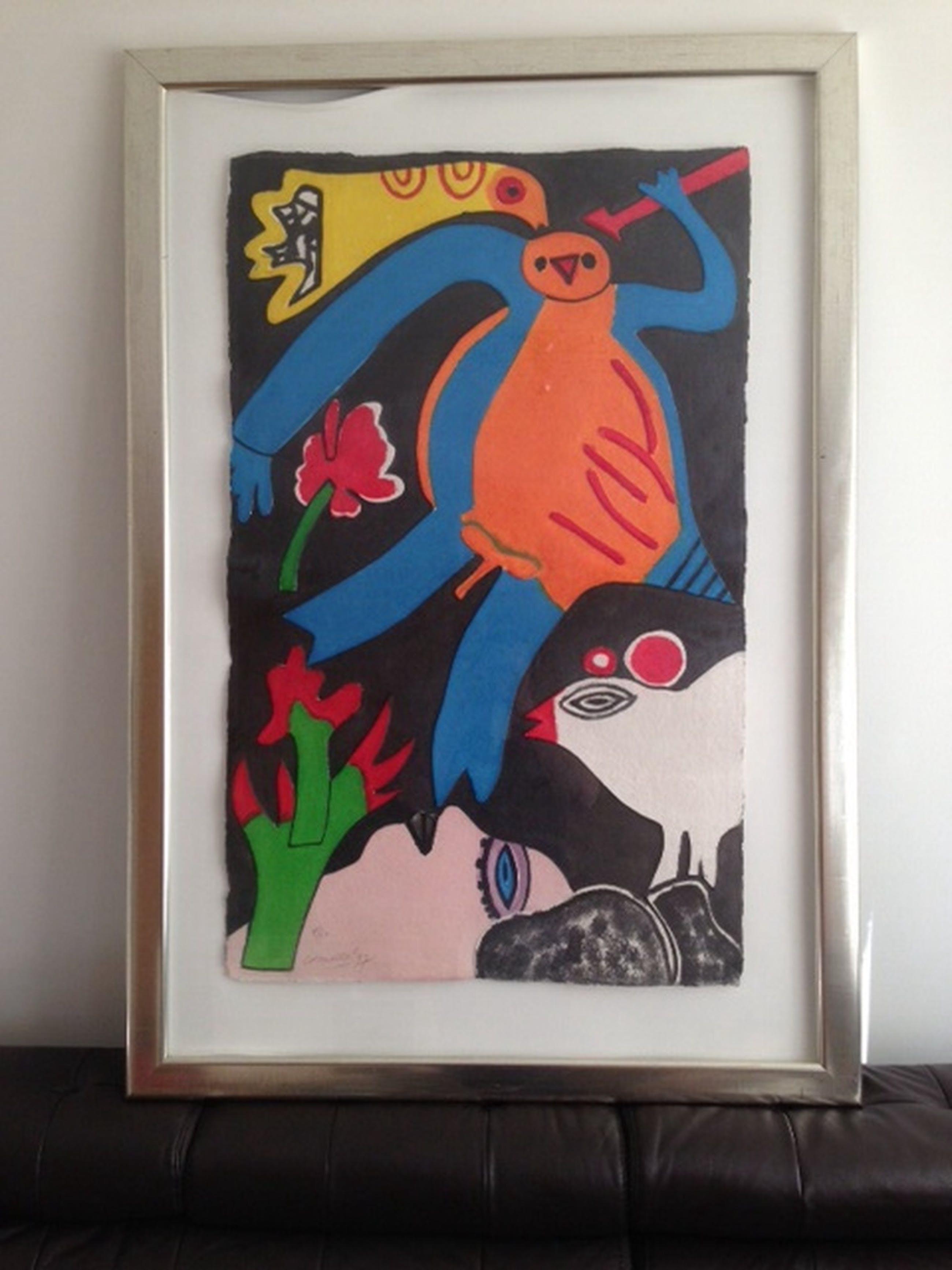 Corneille aquagravure l'oiseau jaune 1997 kopen? Bied vanaf 1100!