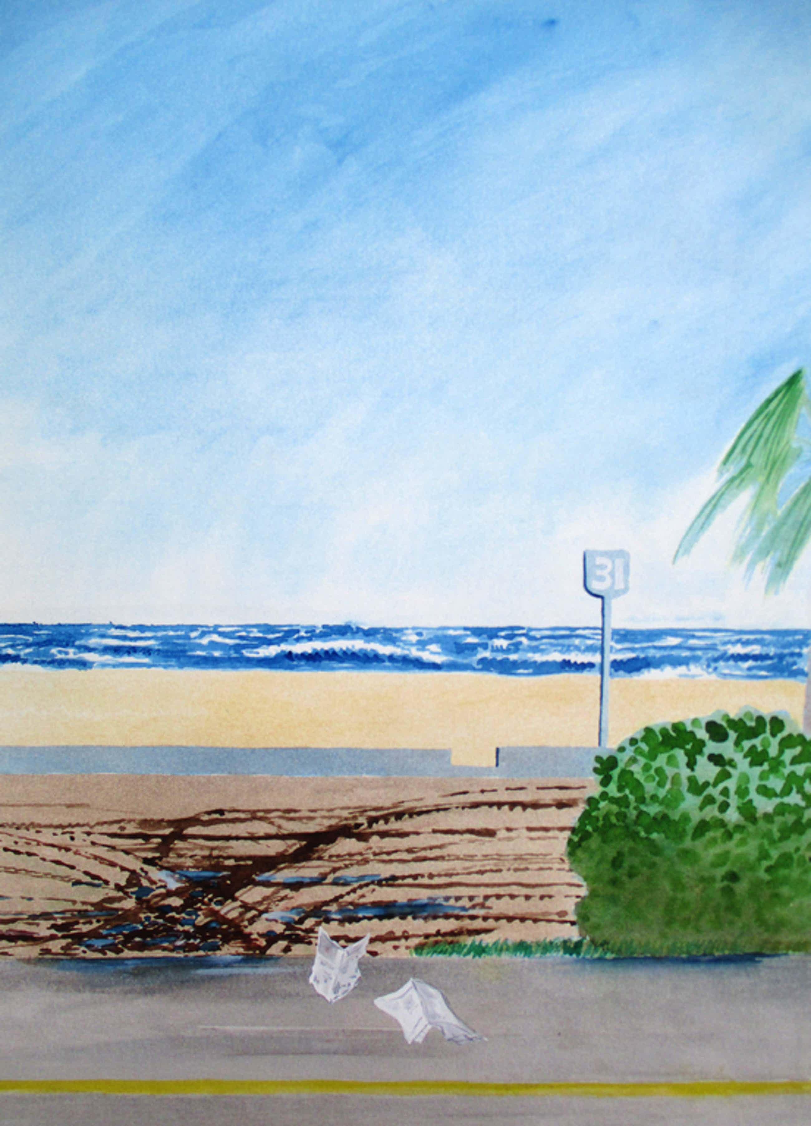 Sjoerd Bakker (toegeschreven aan): Gouache, Golven en strand kopen? Bied vanaf 50!