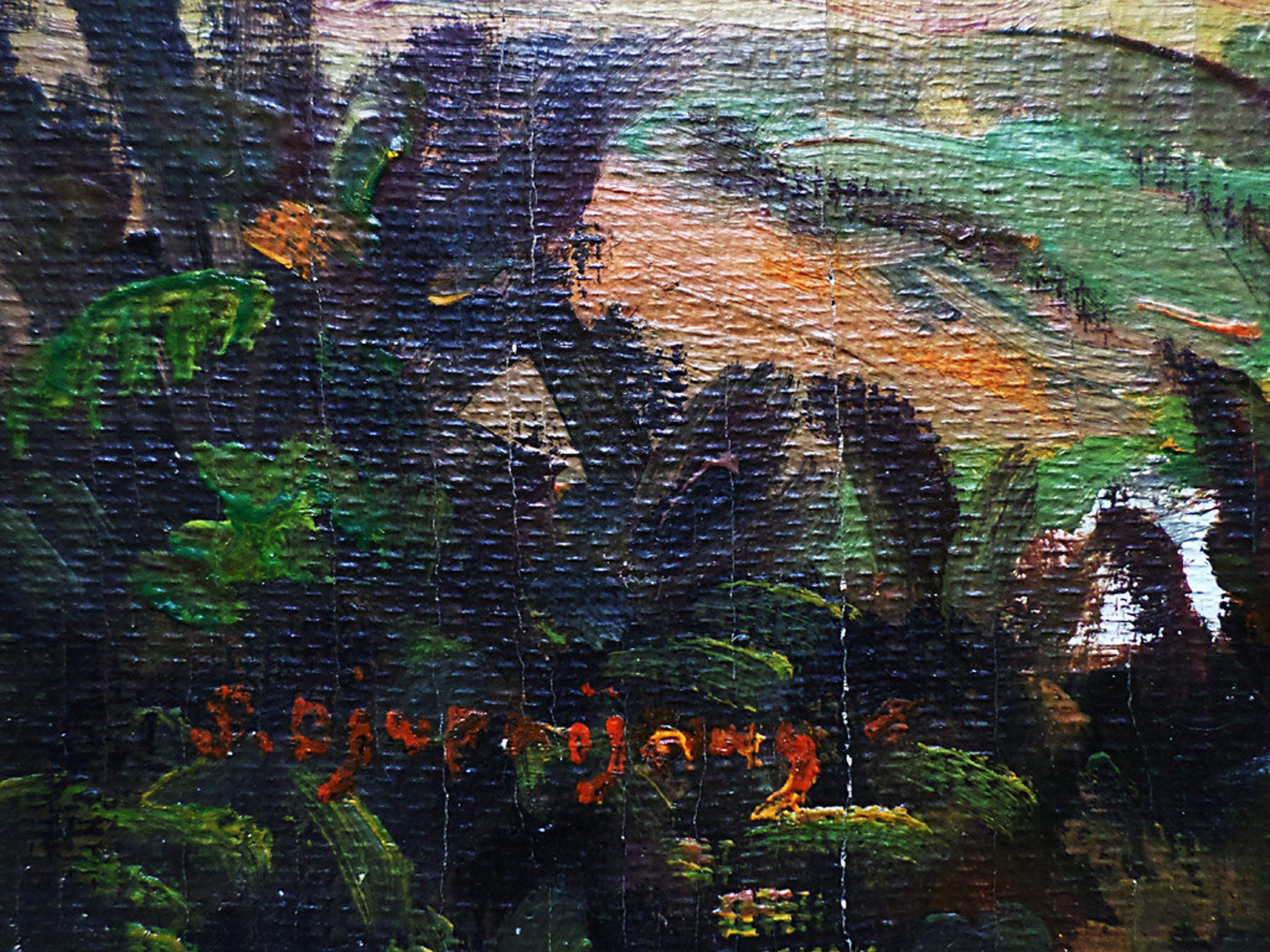 Pelukis Djuprijany - Gunung Salak, olieverf op doek kopen? Bied vanaf 1!