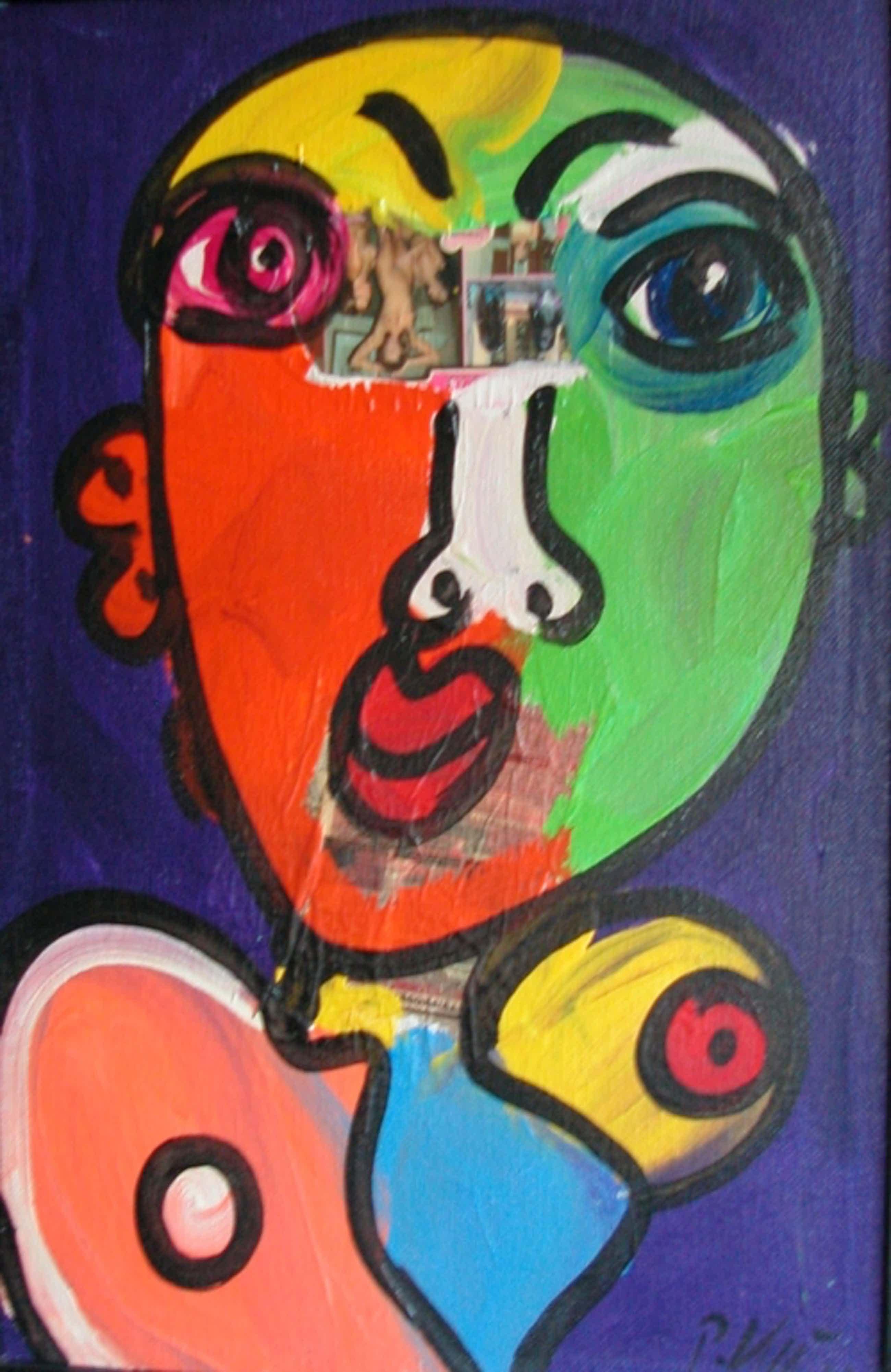 Peter Robert Keil,Collage met Acrylverf.Groot Xlarge. kopen? Bied vanaf 195!