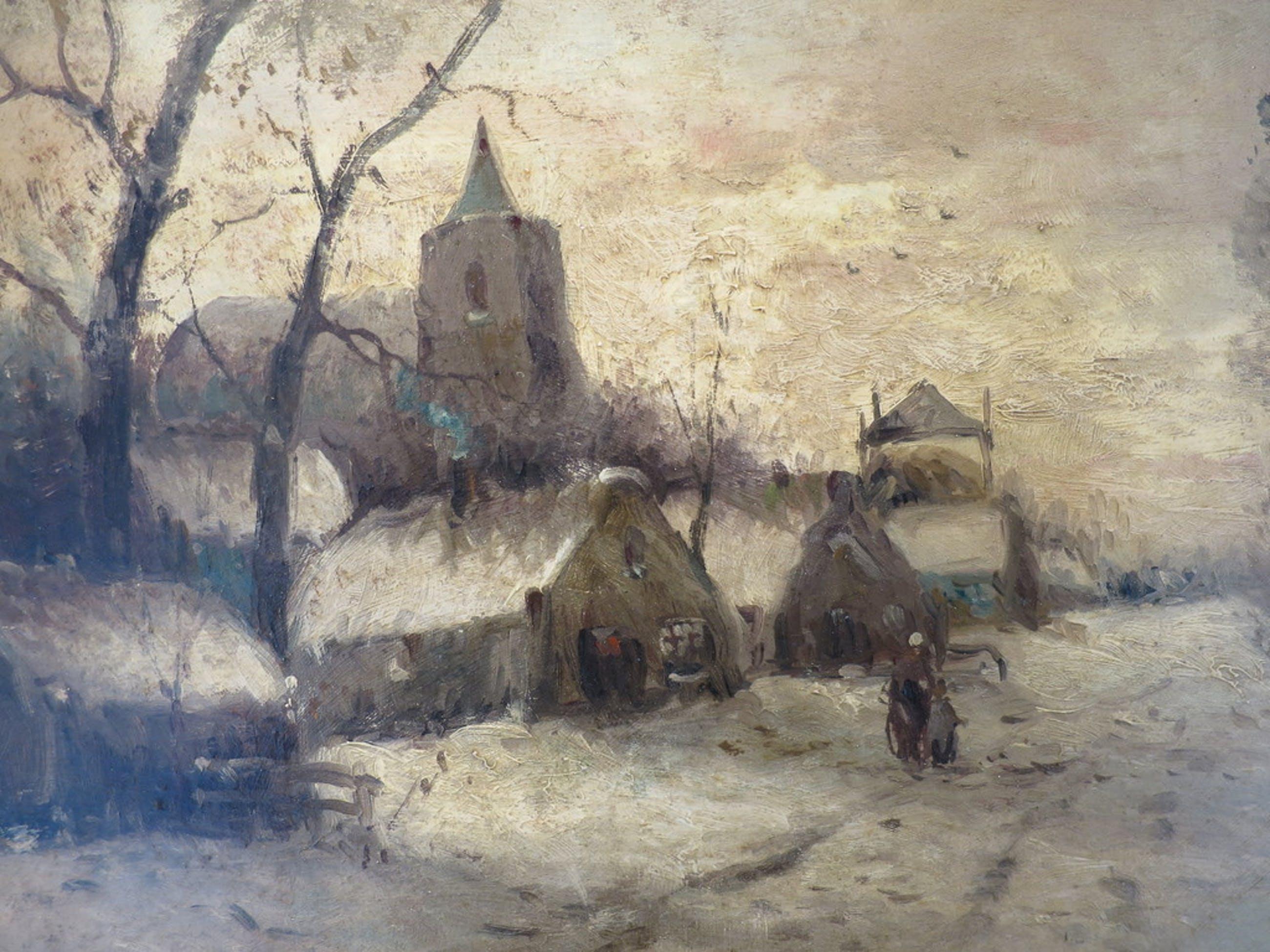 Winterlandschap Herman van der Worp kopen? Bied vanaf 990!