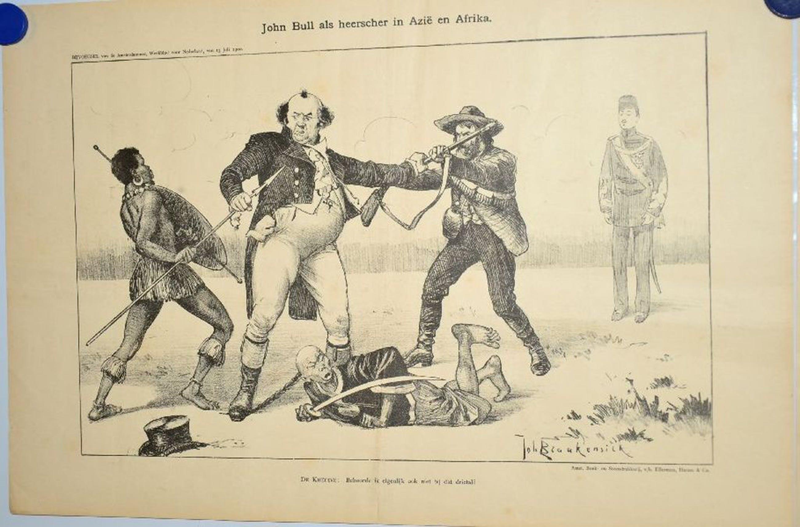 2 prenten 'John Bull' van Johan Braakensiek kopen? Bied vanaf 1!