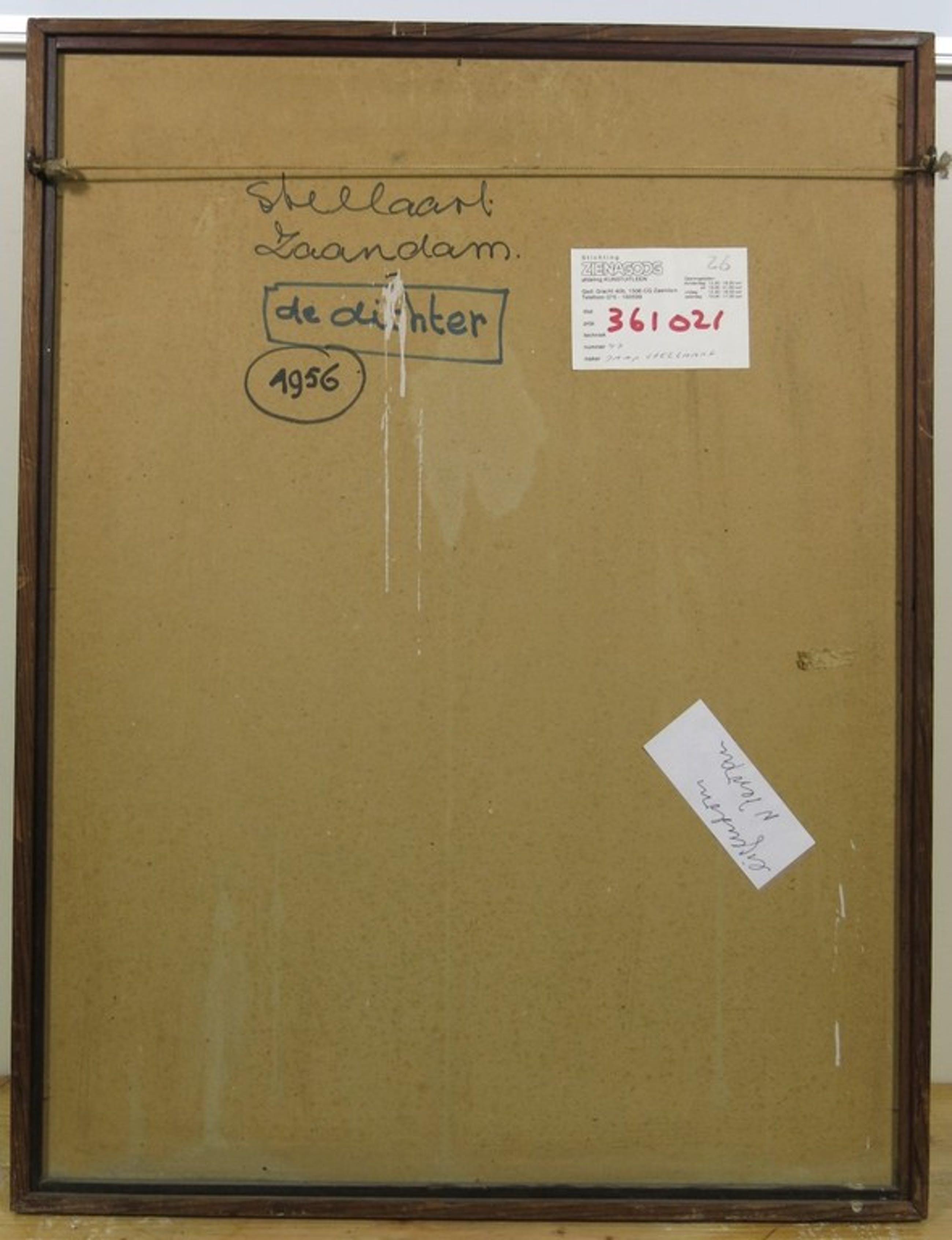 Jaap Stellaart: Olieverf op board, De Dichter - Ingelijst kopen? Bied vanaf 135!