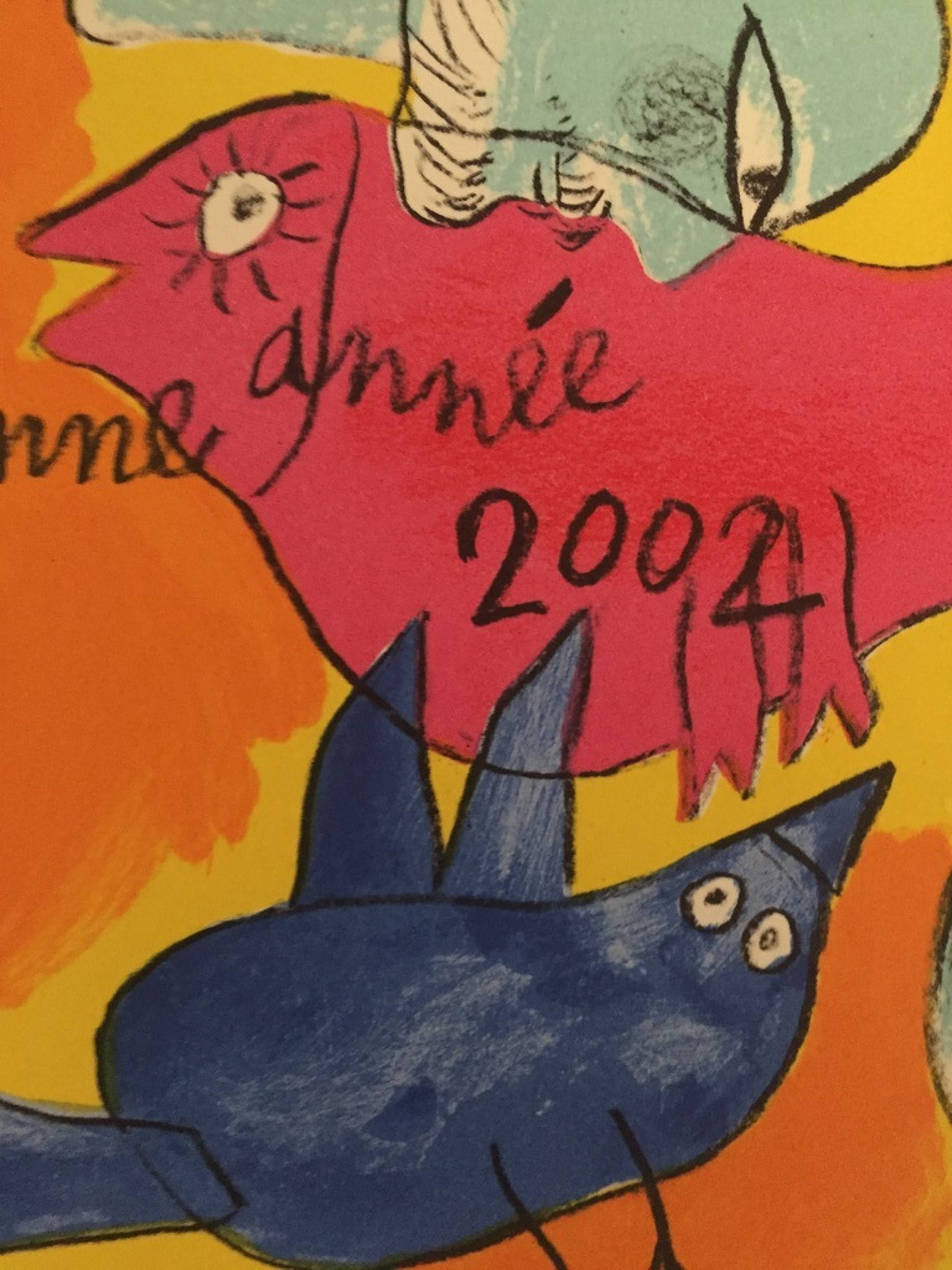 CORNEILLE  COBRAzeefdruk/Litho 2001 , 2002 Kerst Kaart kopen? Bied vanaf 15!