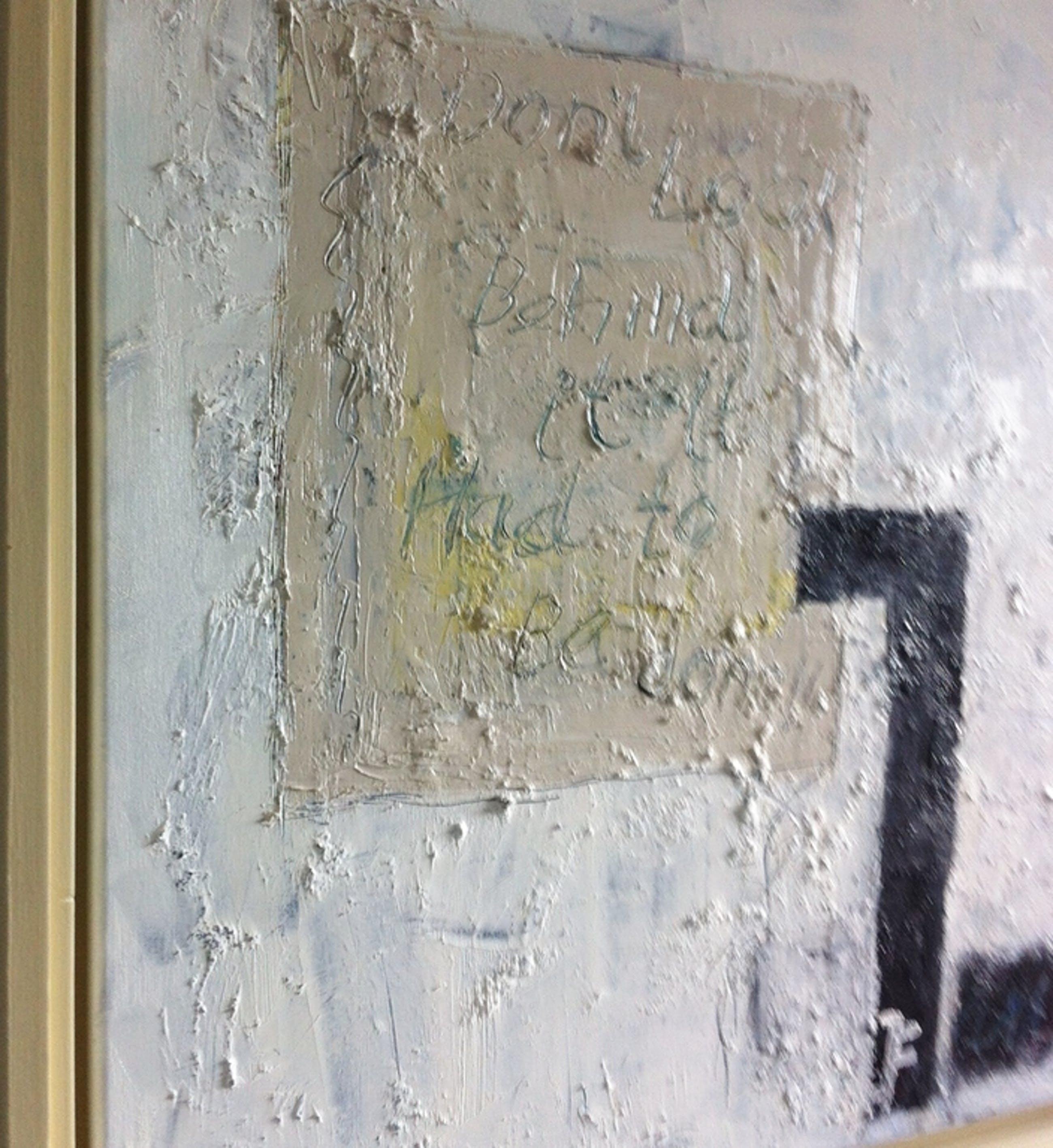 """"""" Don't Look behind it..."""" John Foppen-Olieverf/ Canvas- ingelijst - gesigneerd. kopen? Bied vanaf 135!"""
