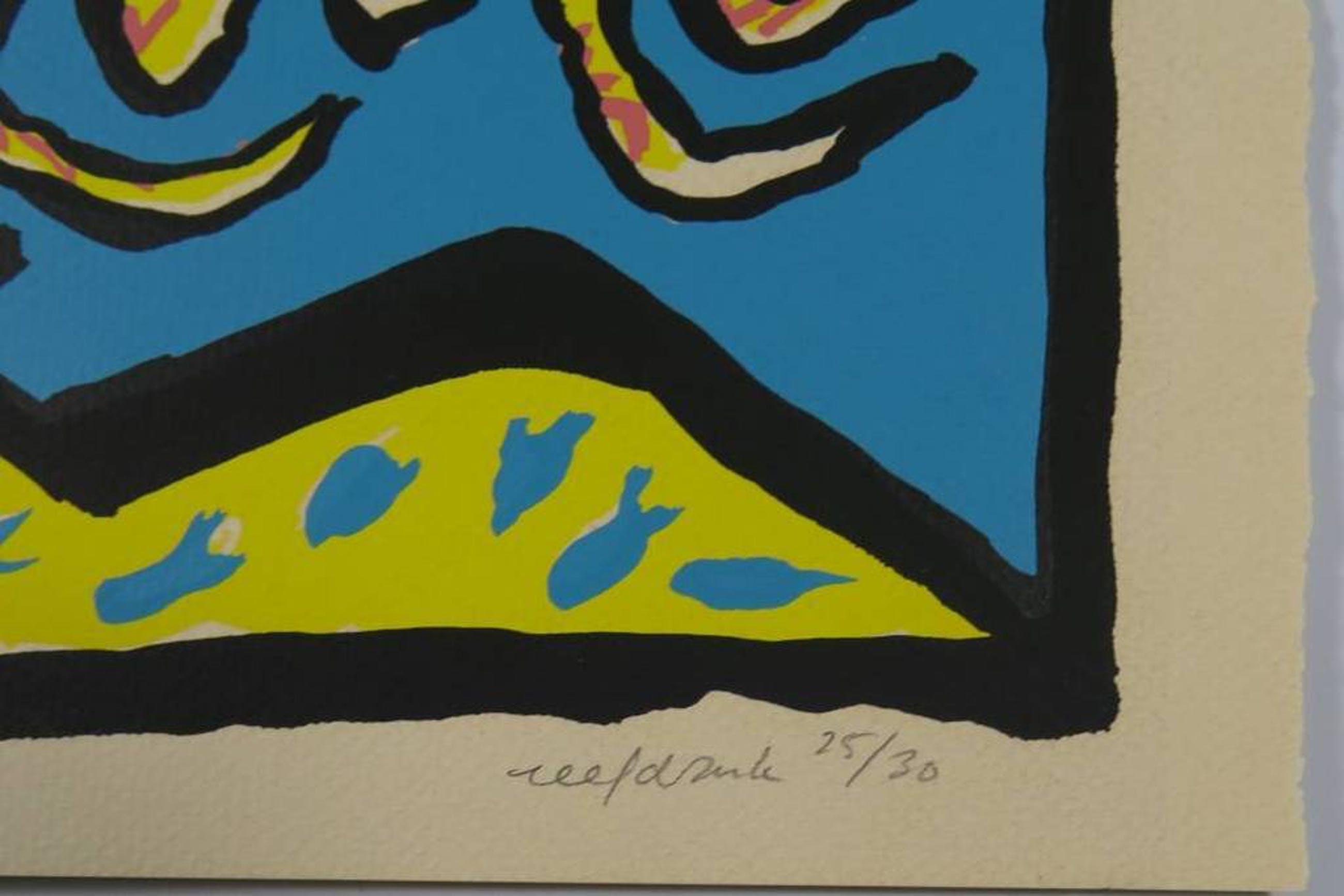 Thea van Doorn. Grappige en kleurrijke Zeefdruk -Retraite-. kopen? Bied vanaf 27!