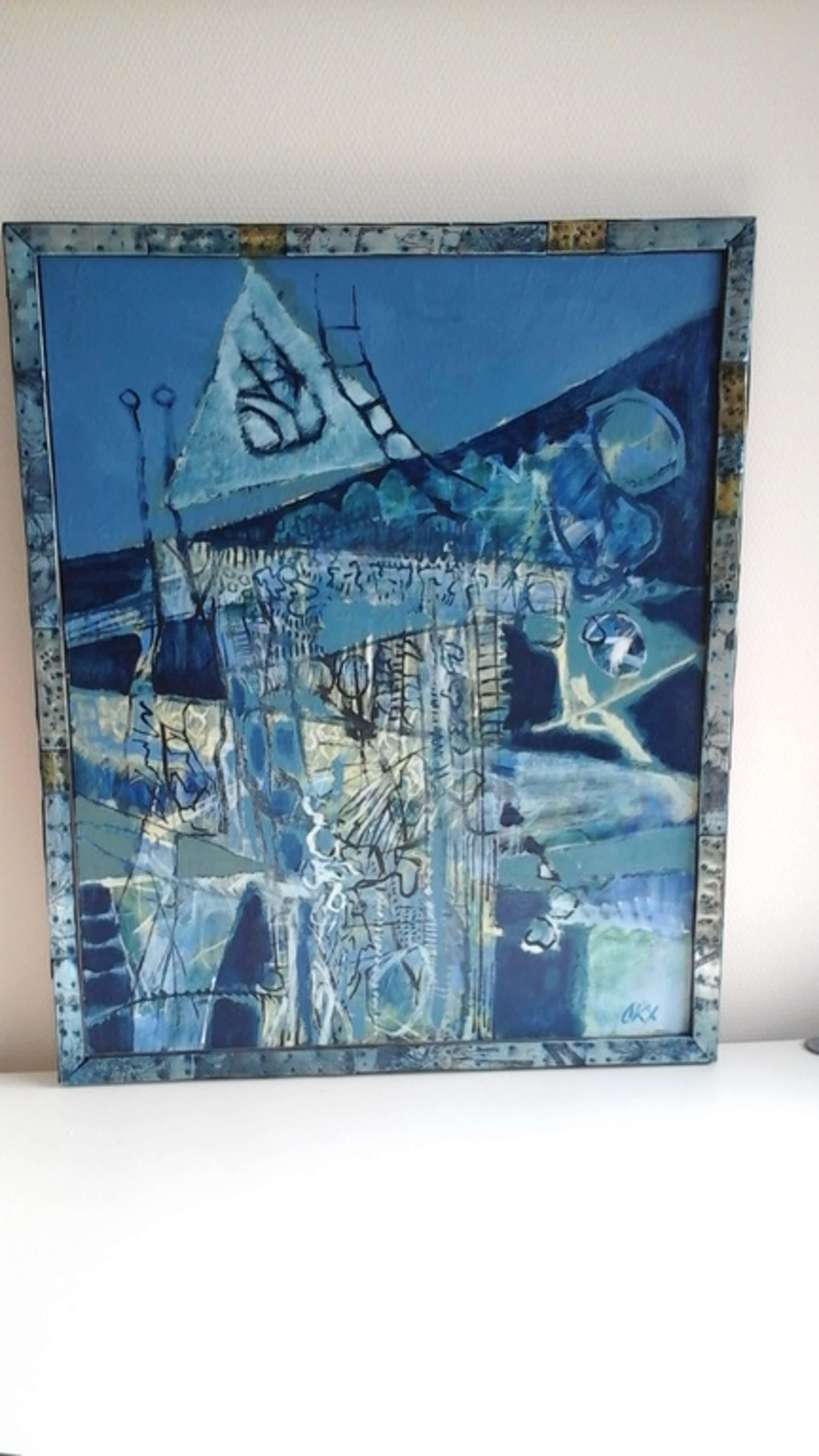 Kees Okx, schilderij, Blauwe Magie (Magie Bleue) kopen? Bied vanaf 350!