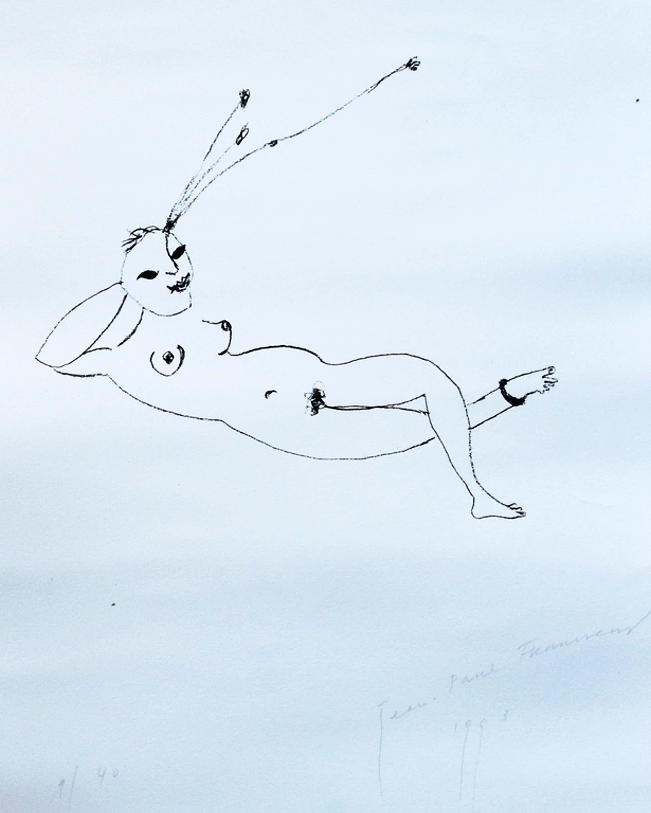 Jean - Paul Franssens # LIGGENDE FIGUUR # oplage 40 , nummer 9/40, mint- kopen? Bied vanaf 39!
