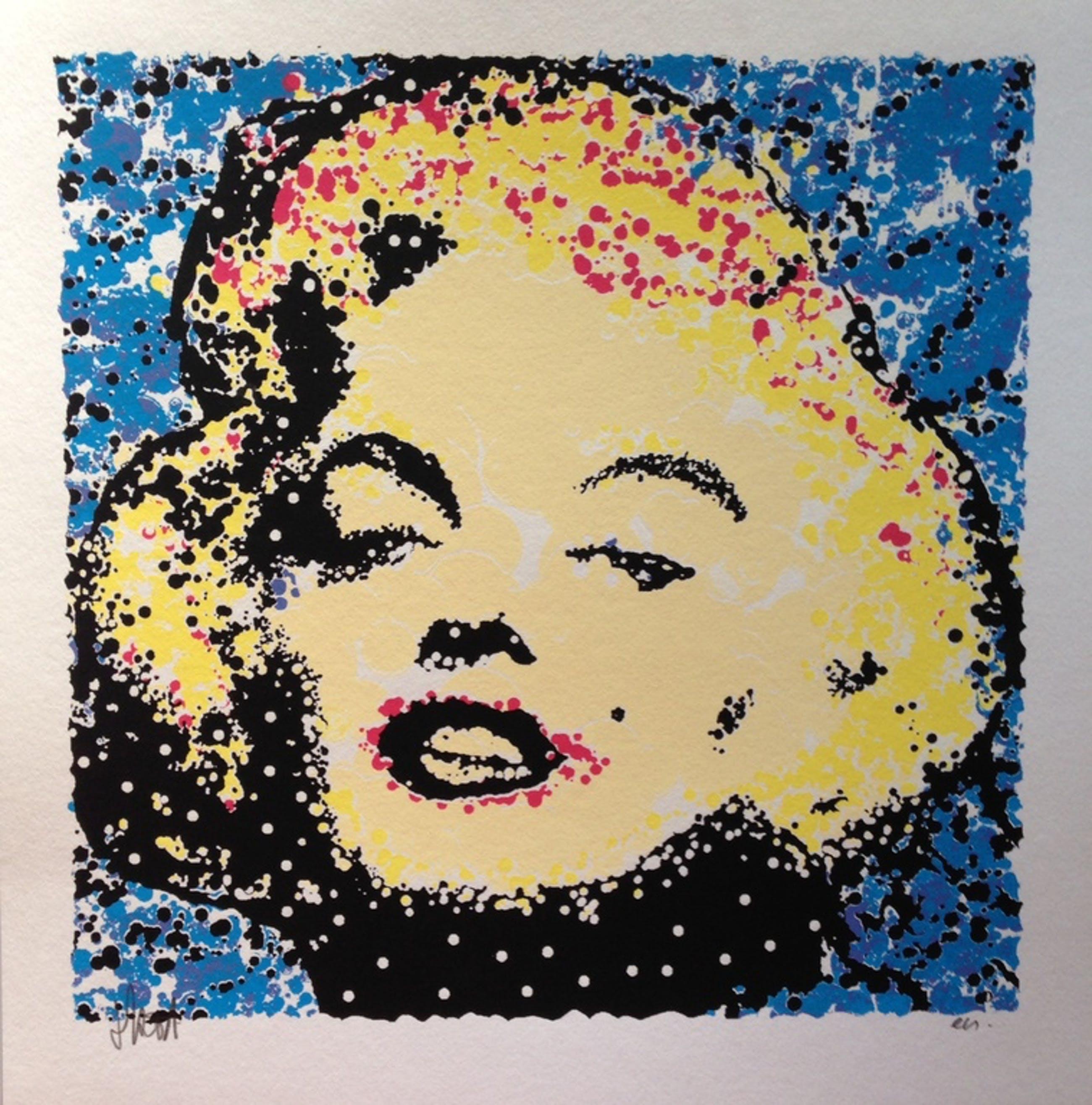 AD VAN HASSEL - handgesigneerde zeefdruk: Marilyn Monroe Blauw kopen? Bied vanaf 1!
