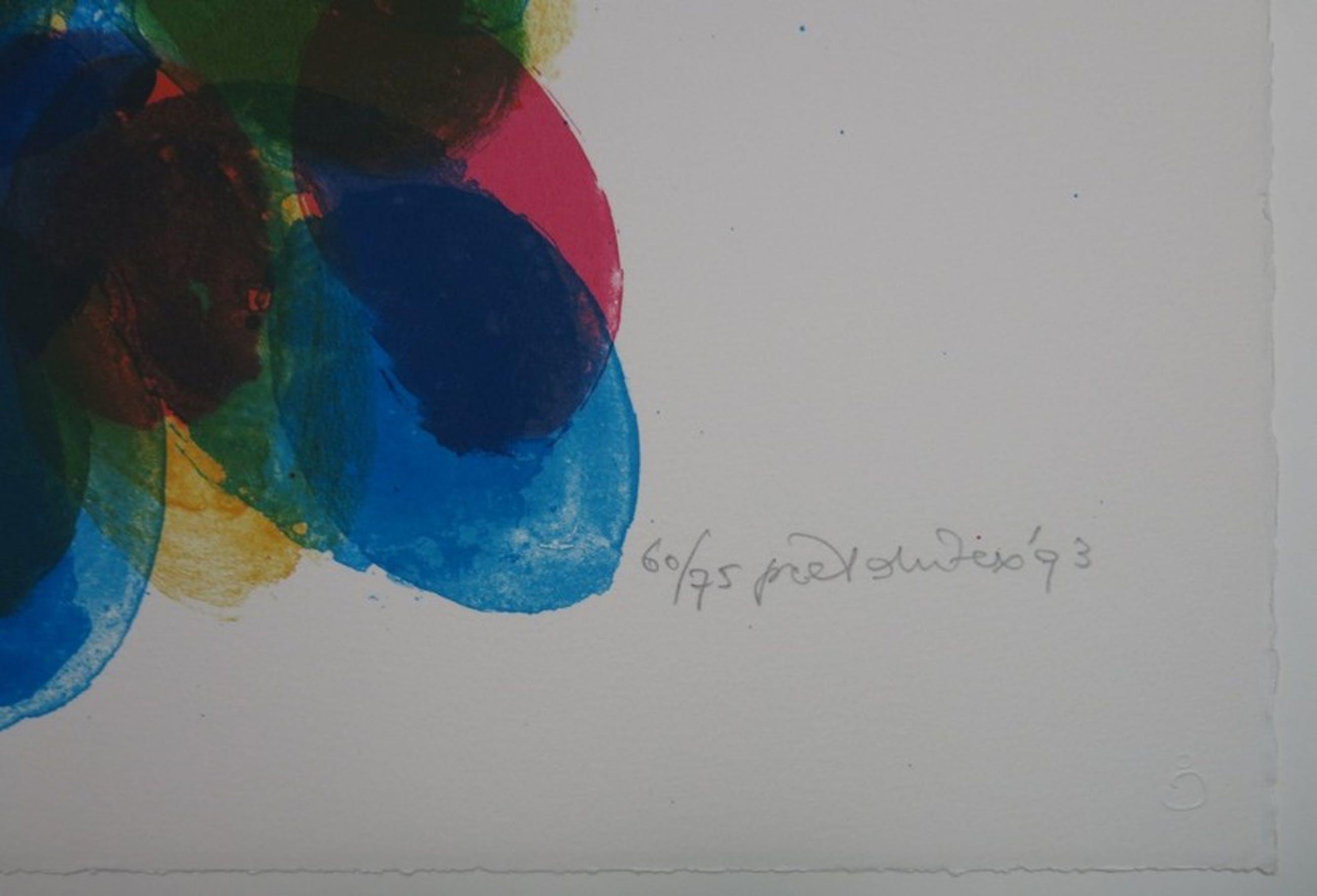 Piet Dirkx: Zeefdruk, Compositie met gekleurde stippen kopen? Bied vanaf 1!
