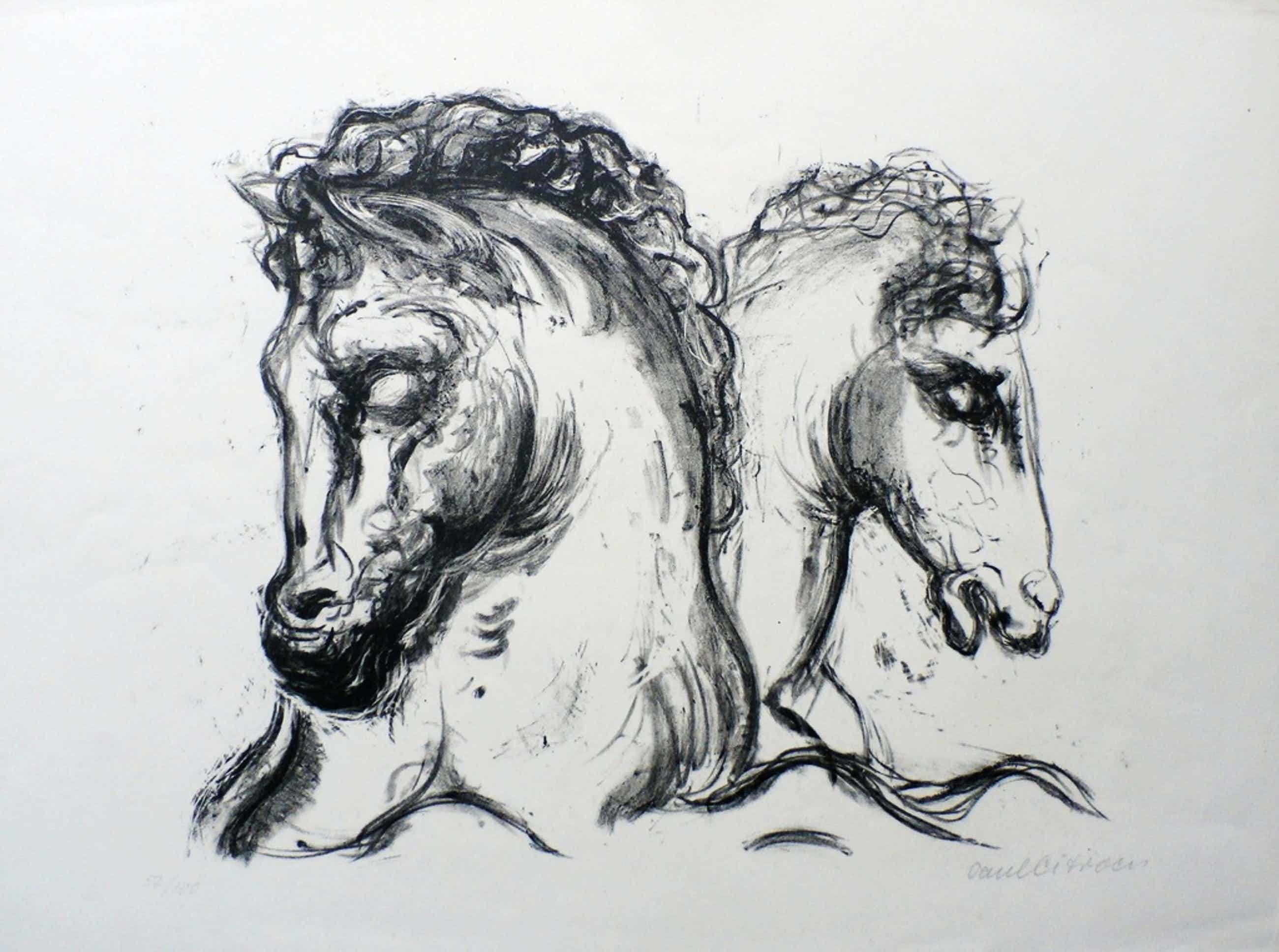 Paul Citroen - litho: 2 paardenhoofden kopen? Bied vanaf 50!
