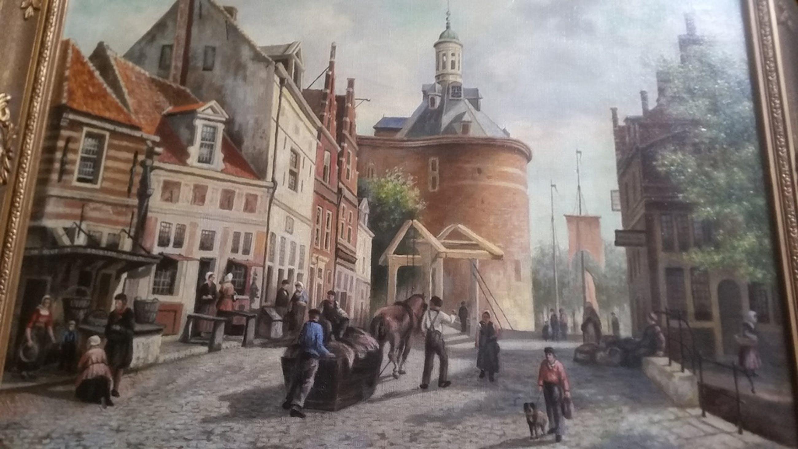 Zuiderspui in Dromedaris 1866 olieverf/geschilderd / A.Ringoir naar C.Springer kopen? Bied vanaf 300!