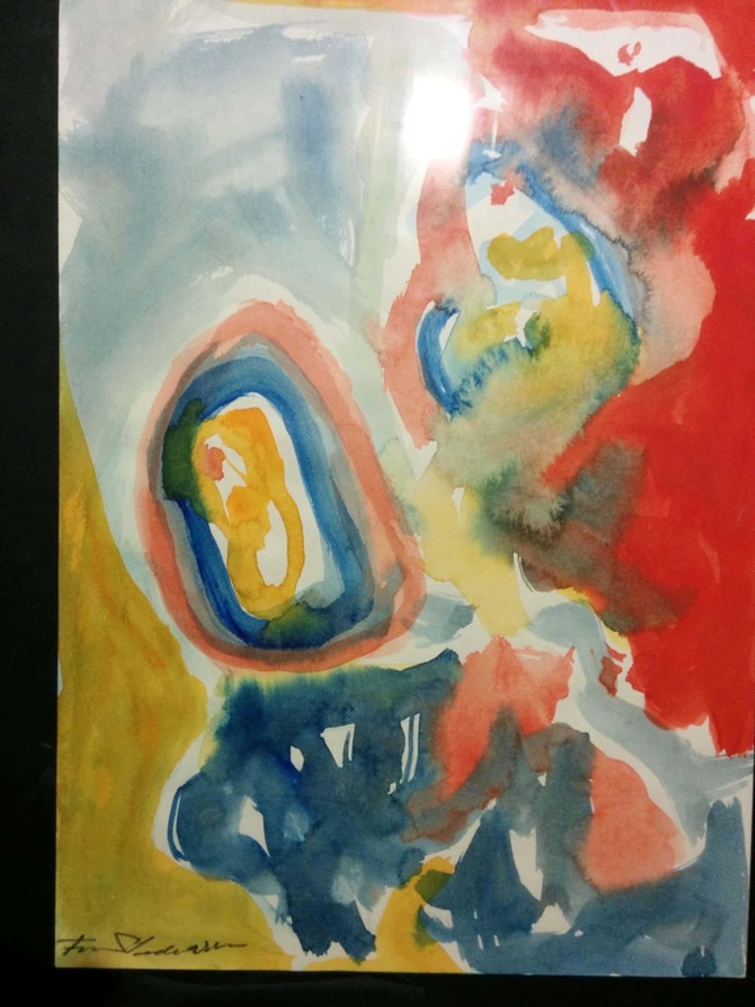 Finn Pedersen origineel aquarel schilderij met lijst kopen? Bied vanaf 100!