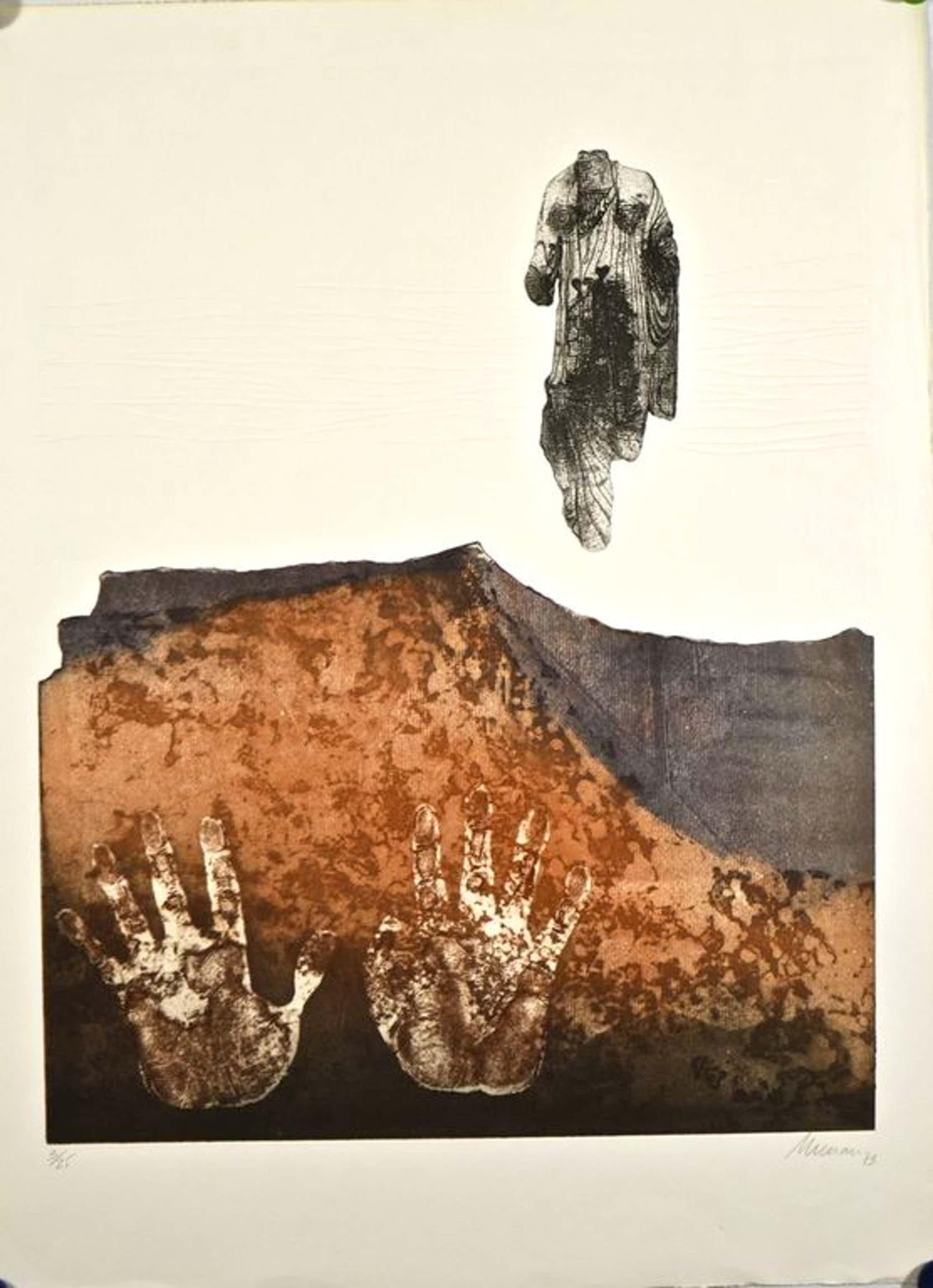 Manuel Menan: Kleurenets met reliefdruk + affiche, 1973 kopen? Bied vanaf 50!
