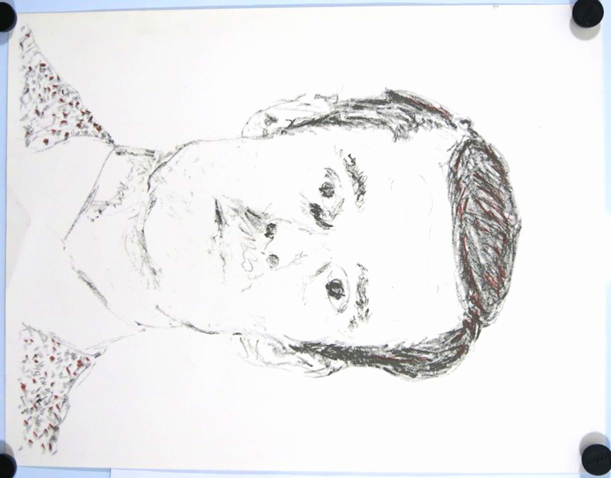 Emo Verkerk: Litho, Portret van een man kopen? Bied vanaf 65!