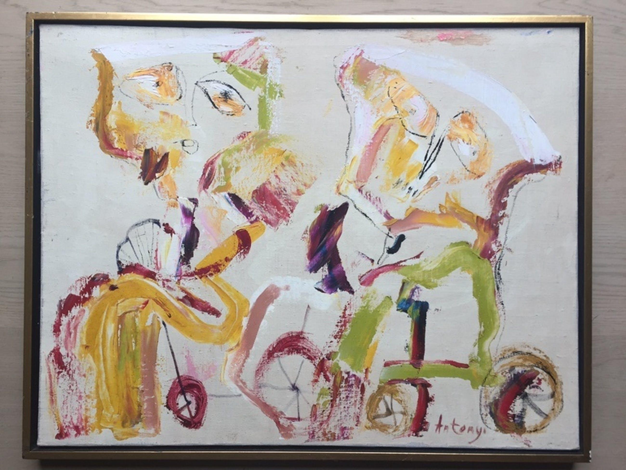 Imre Antonyi Cobra unique schilderij op doek kopen? Bied vanaf 150!