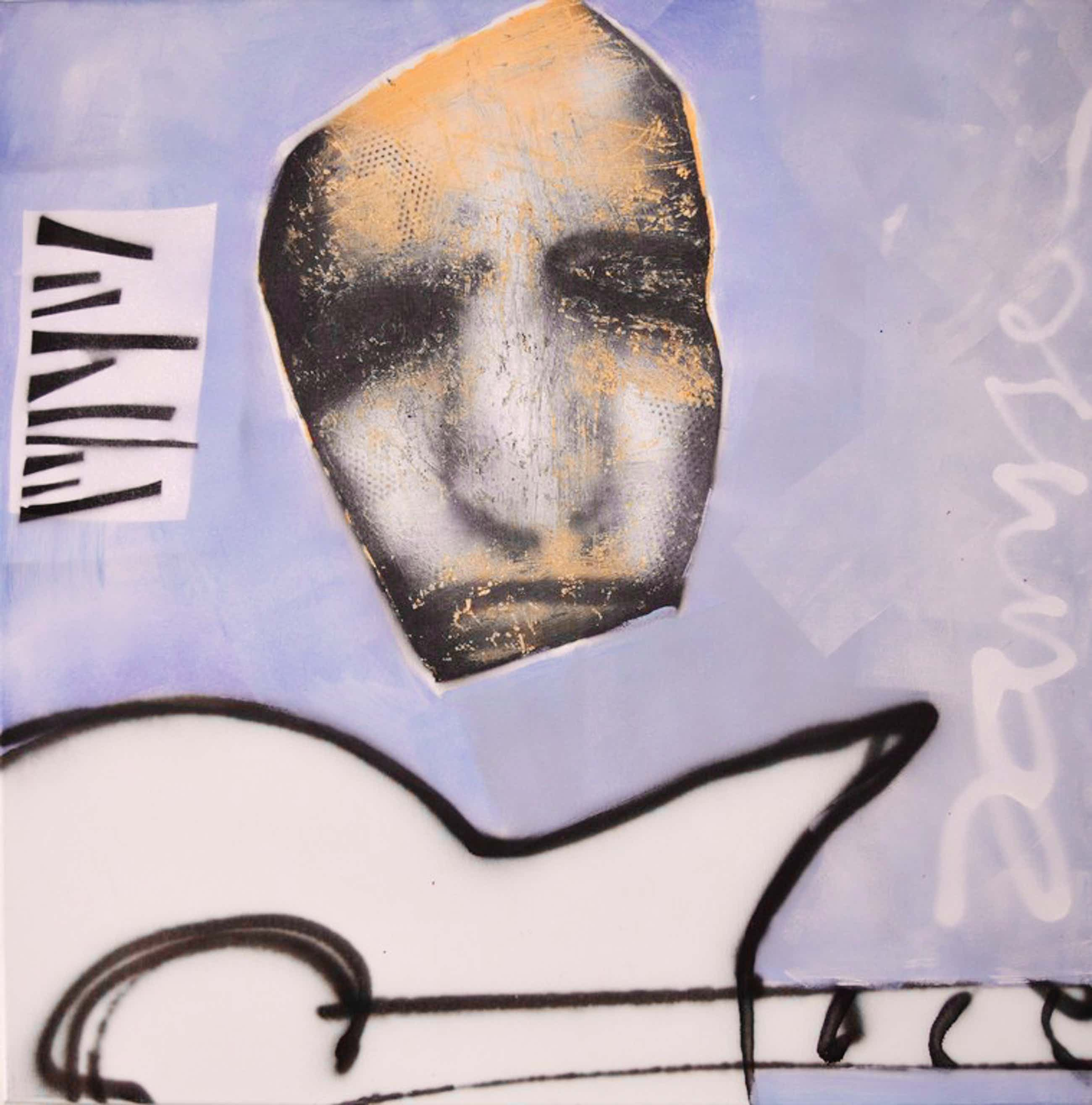 Edwin Janssen: Gitar guy - acryl en spuitbus - 2012 kopen? Bied vanaf 79!