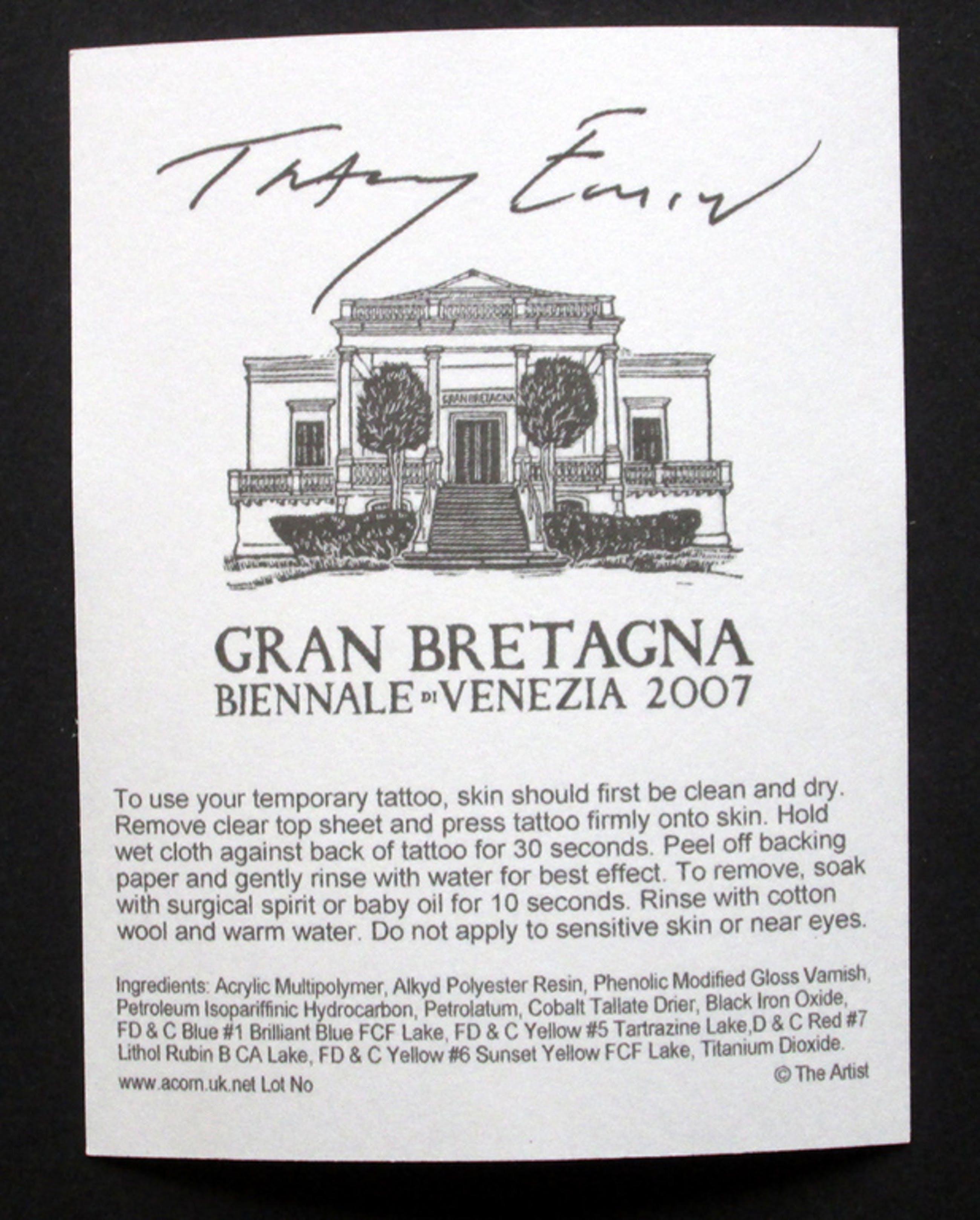 Singing bird - temporary tattoo - multiple - Biënnale in Venetië - 2007 kopen? Bied vanaf 19!