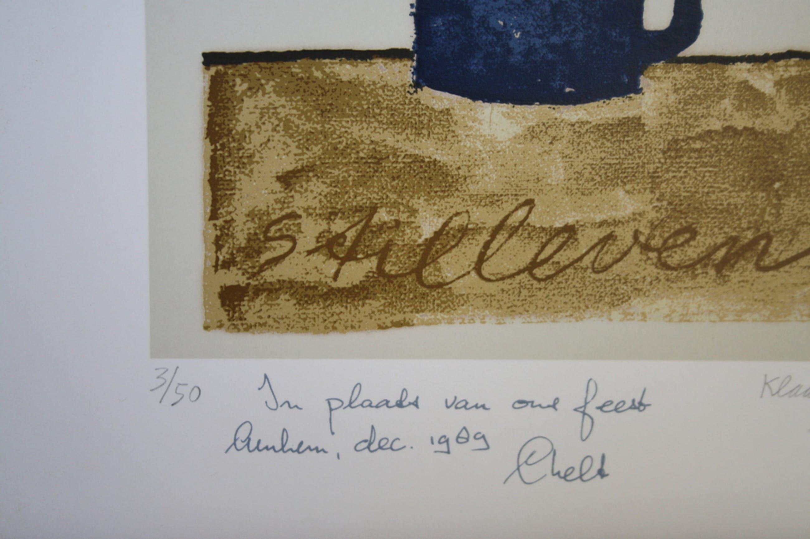 Klaas Gubbels, zeefdruk 'Stilleven '78' kopen? Bied vanaf 50!