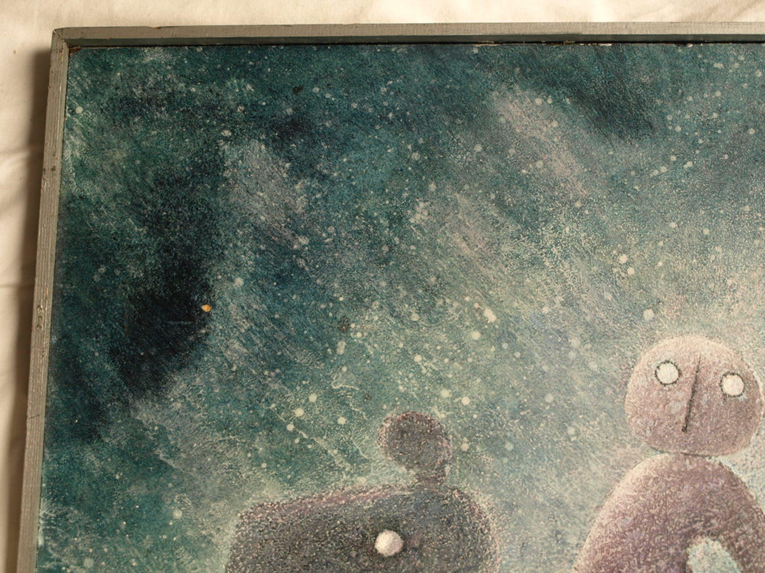 Huub Slabbers (1910-2002) : Acryl op spaanplaat – Yessna – gesigneerd - 1975 kopen? Bied vanaf 1!