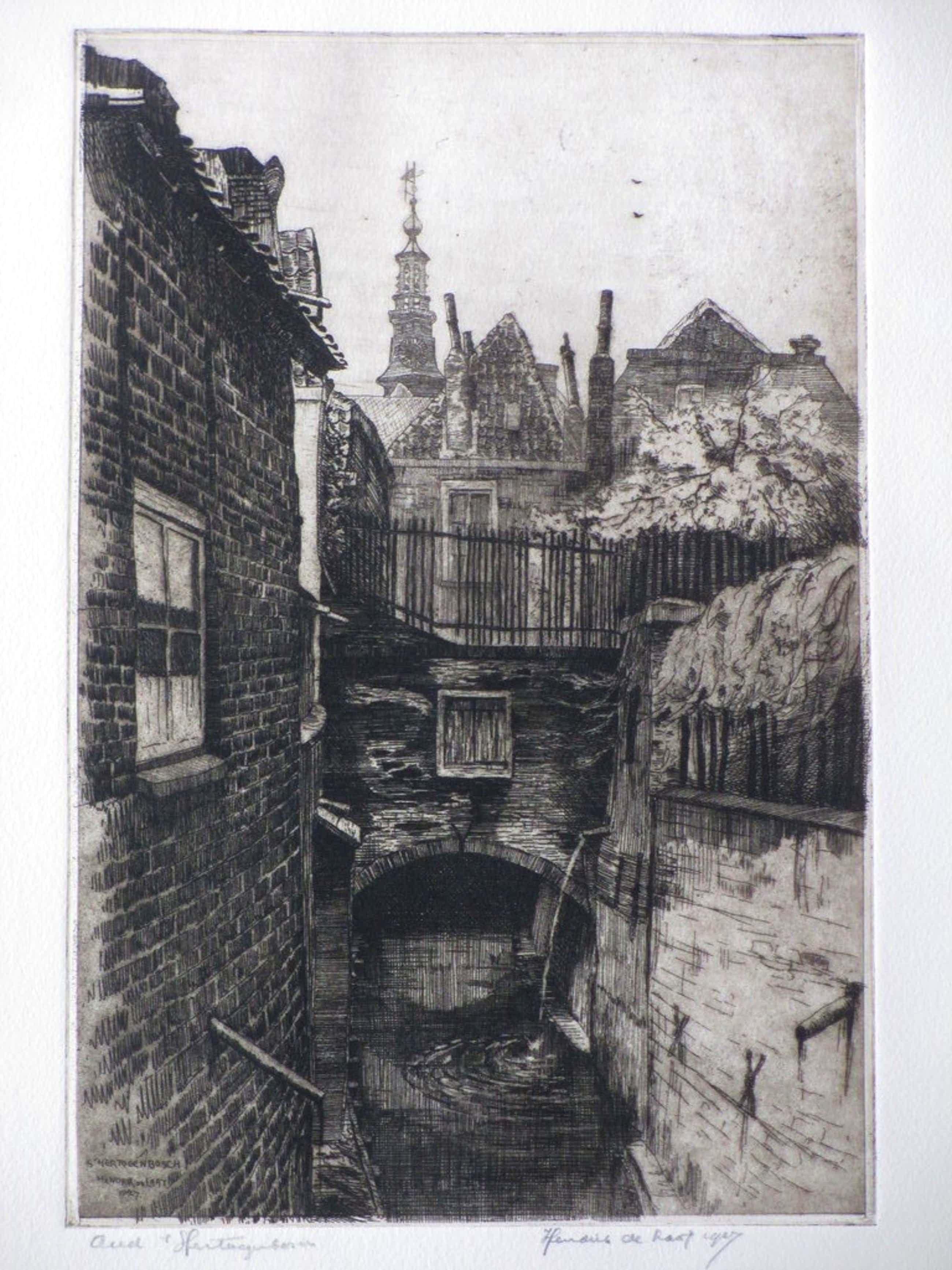 Hendrik de Laat, Oud 's-Hertogenbosch, Ets 1927 kopen? Bied vanaf 35!