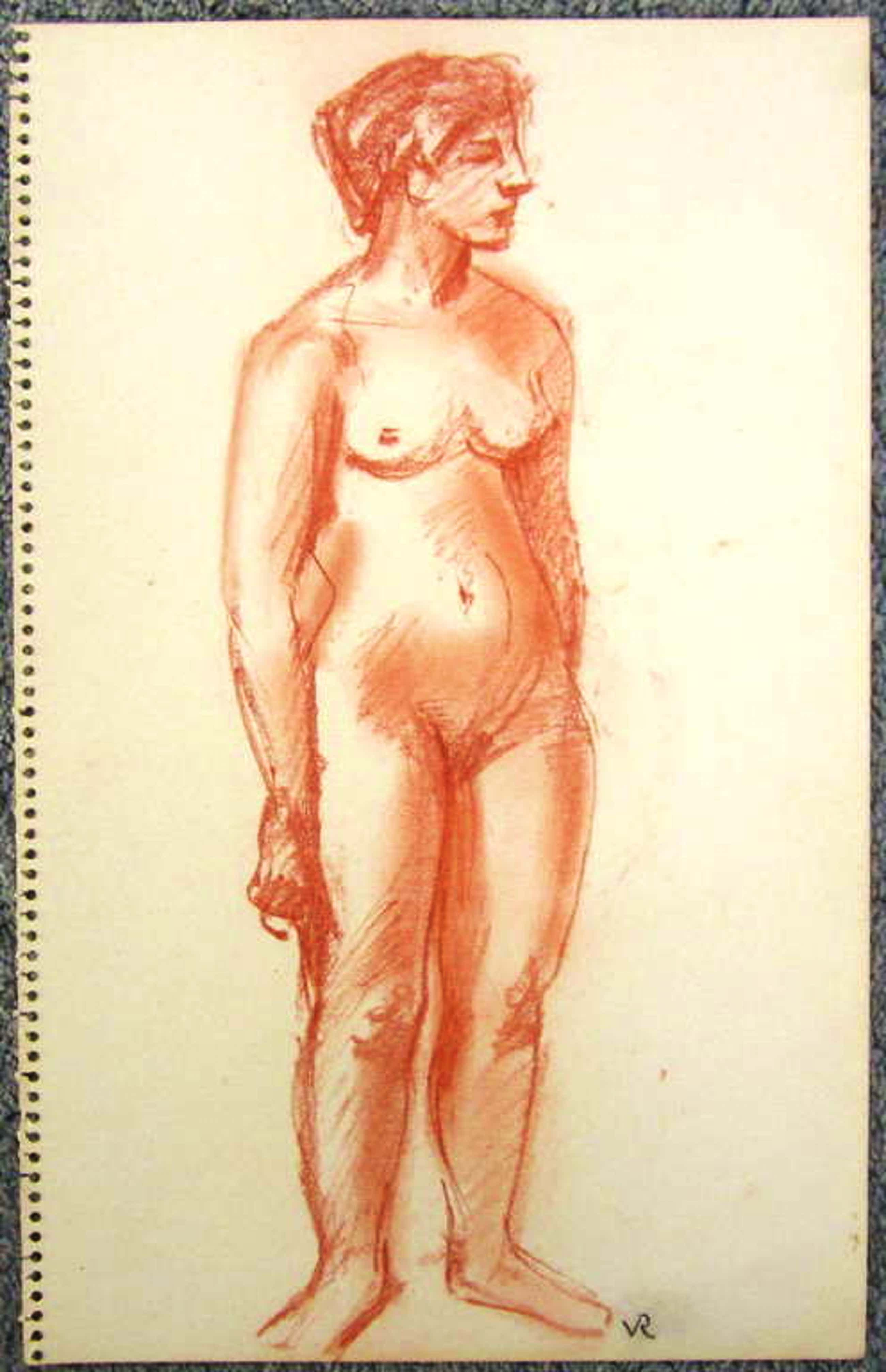Otto van Rees 1884-1956, krijt-tekening uit schetsboek,  bladformaat 33.2 x 20.8 kopen? Bied vanaf 80!