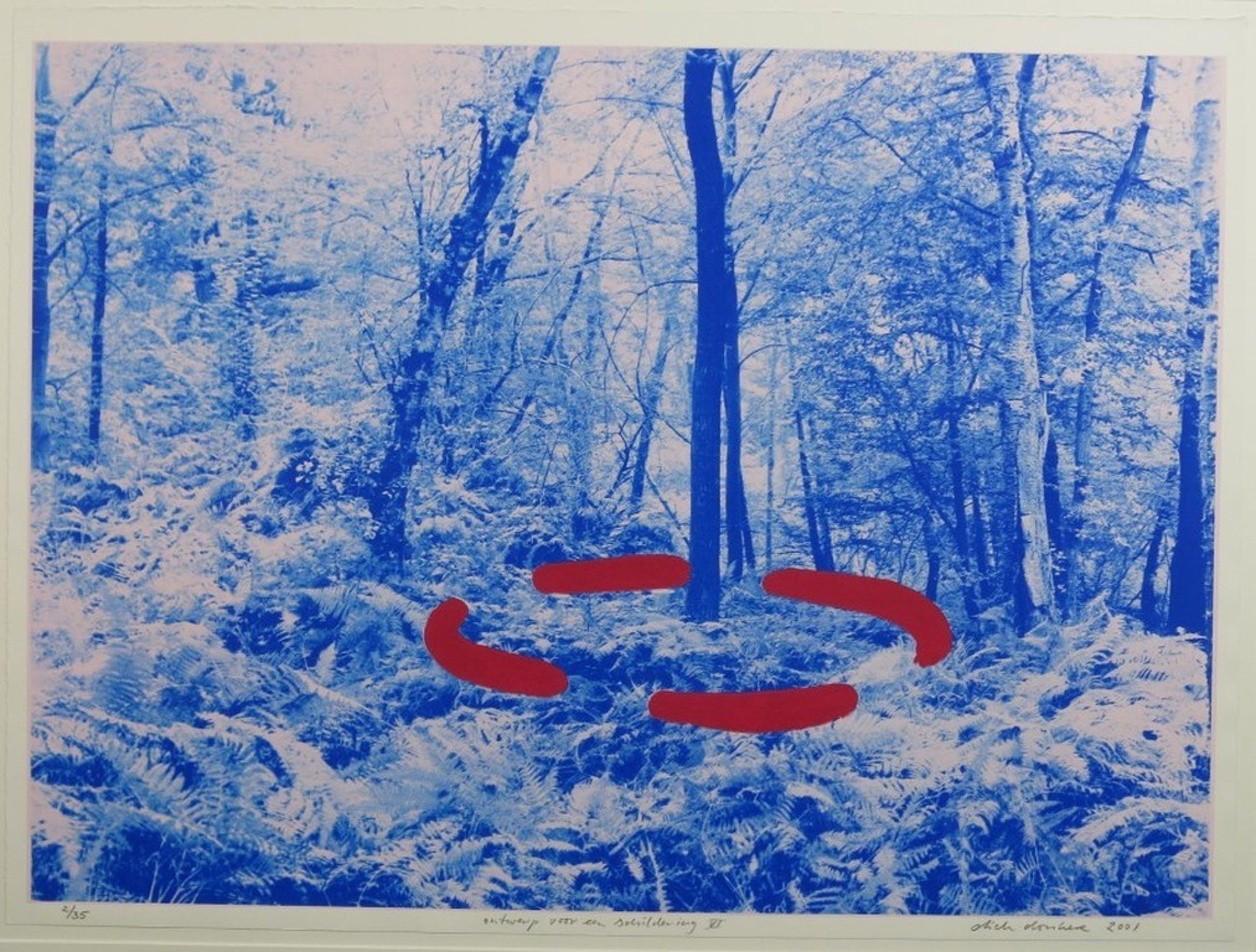 Dick Donker: Zeefdruk, Ontwerp voor een schildering VI - Ingelijst kopen? Bied vanaf 1!