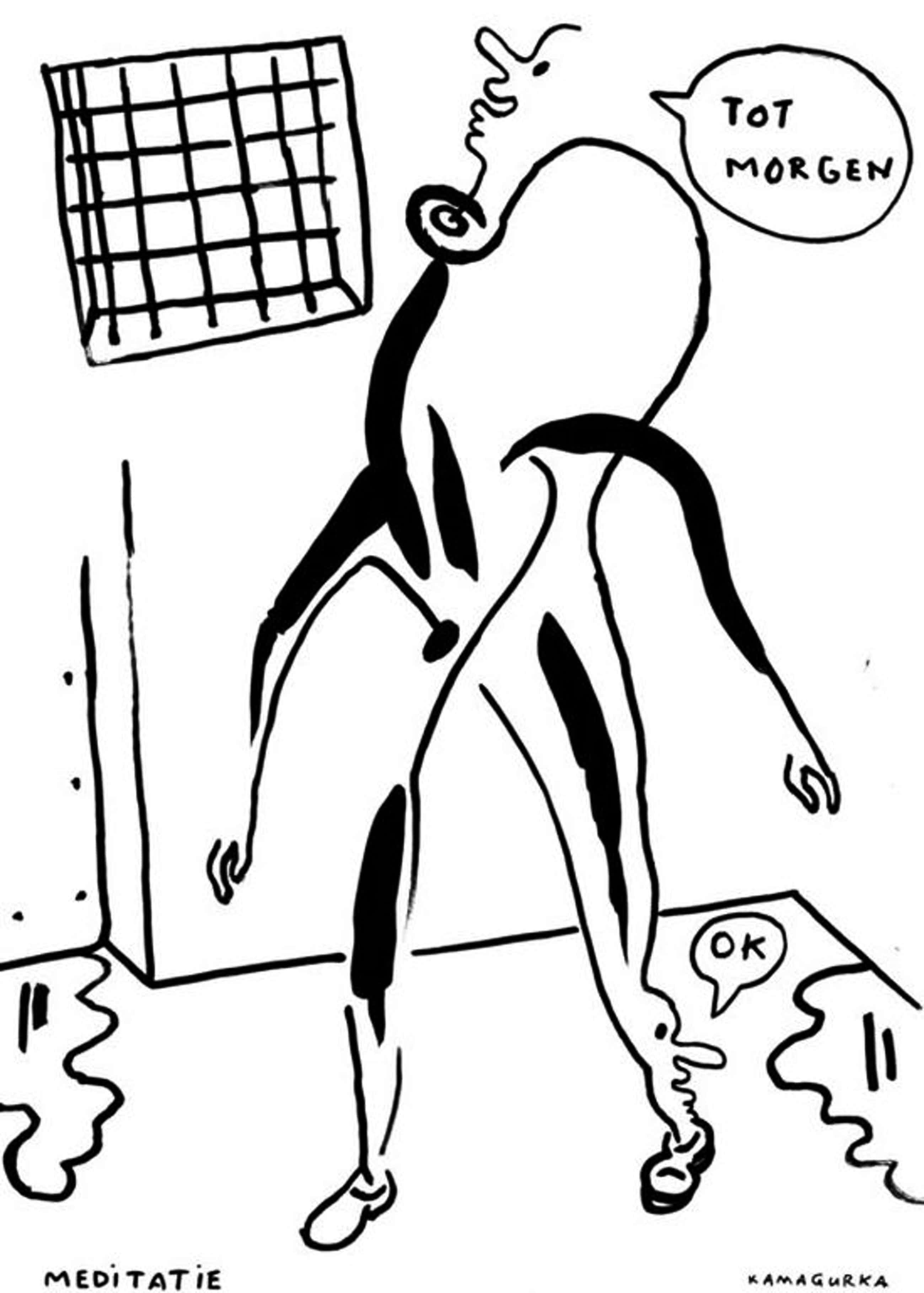 KAMAGURKA originele  grote tekening ,gesigneerd kopen? Bied vanaf 270!