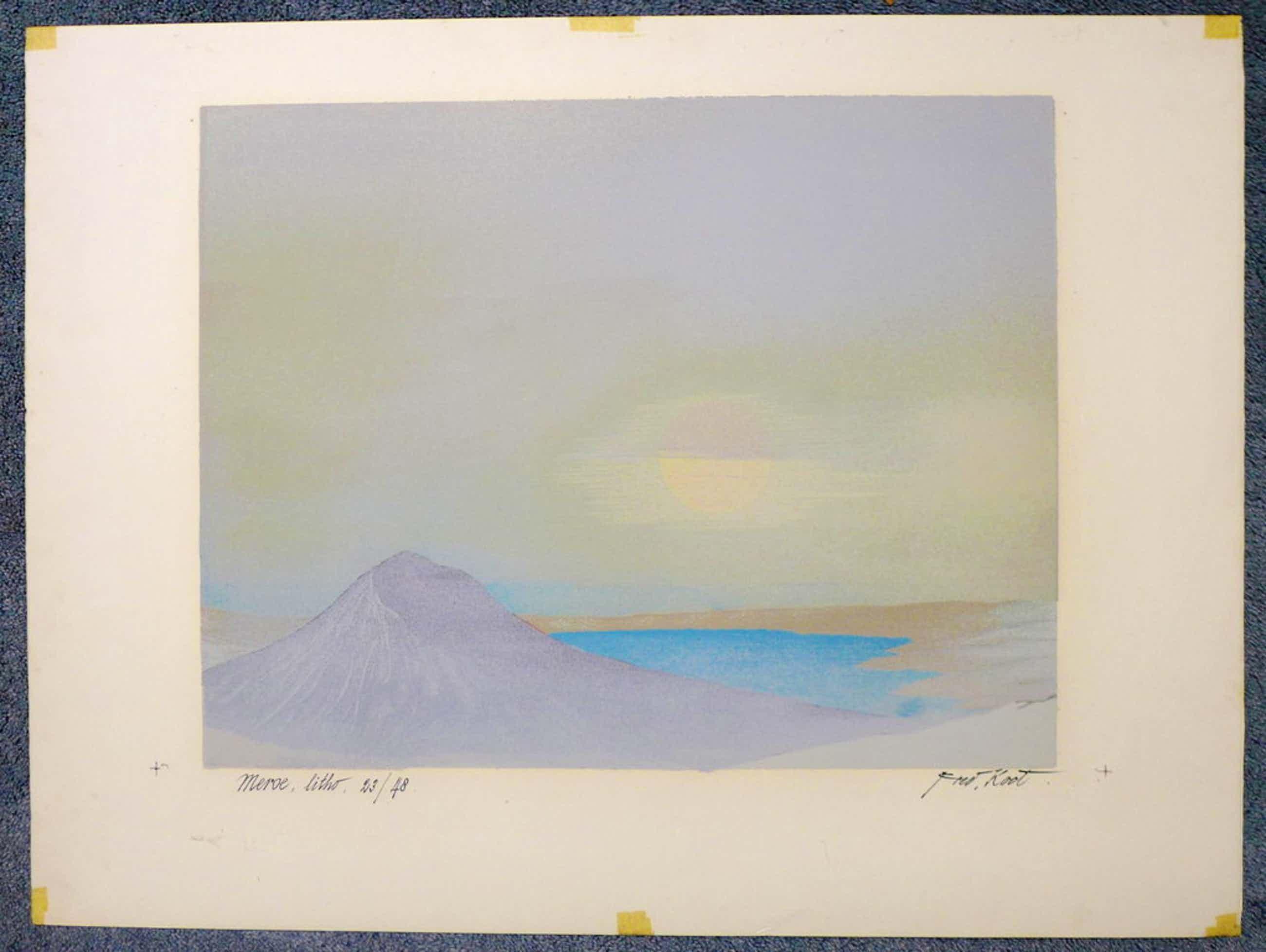 Fred Koot, litho, titel: Meroe, oplagenummer 23/48 beeldformaat 35 x 44.7 cm.  kopen? Bied vanaf 50!