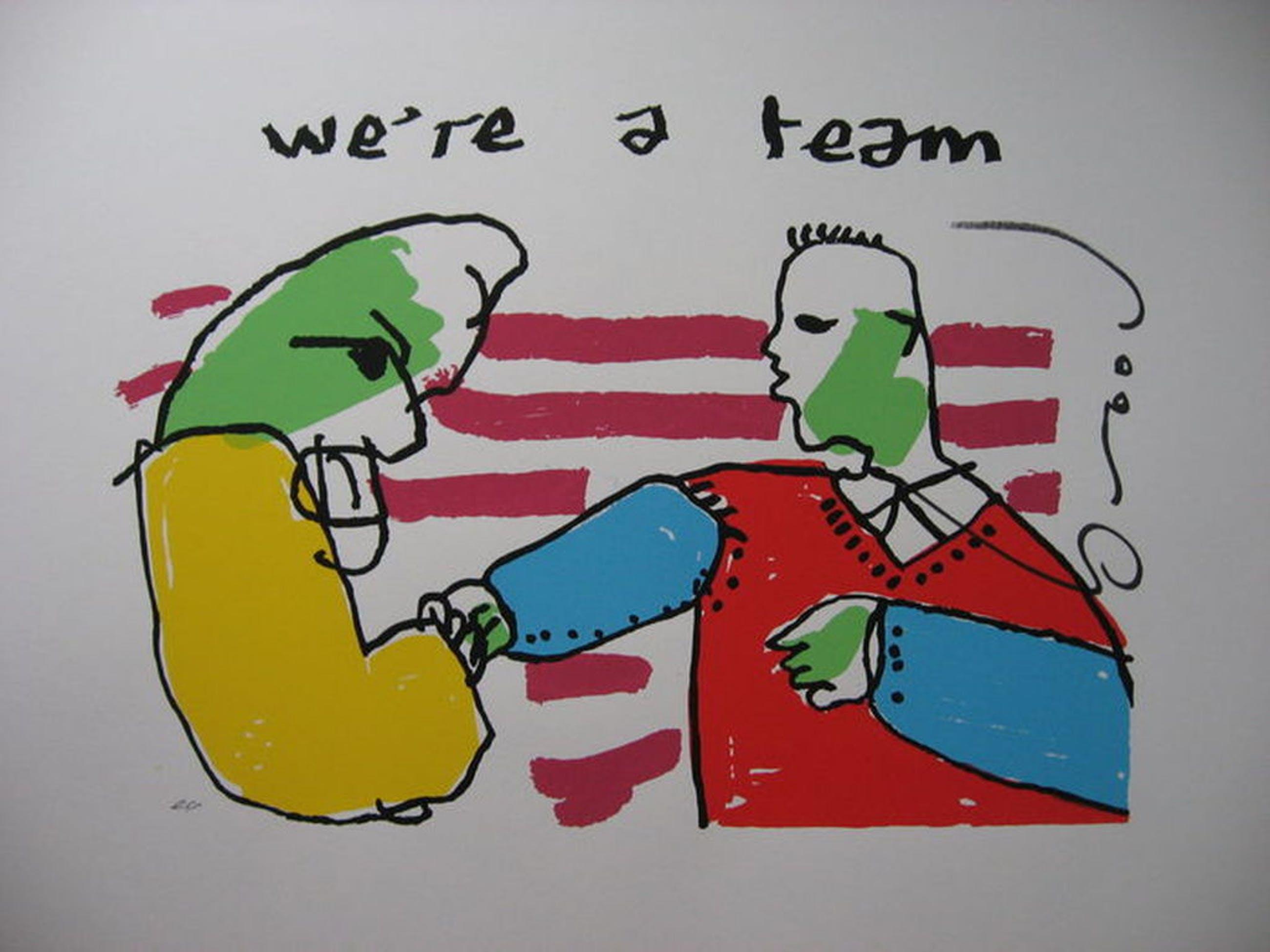 Herman Brood: Zeefdruk - 'We're a team' - E.A exemplaar kopen? Bied vanaf 129!