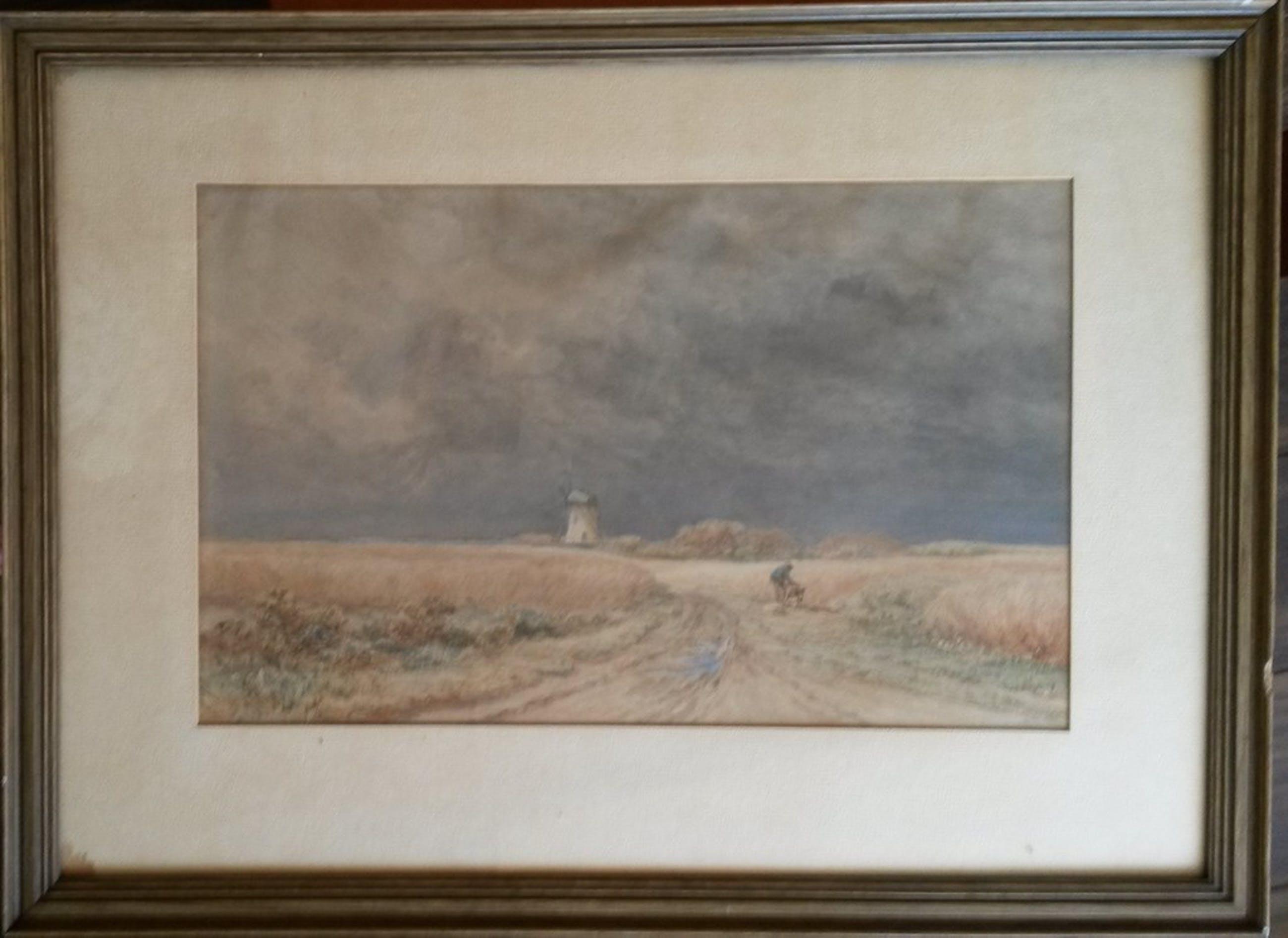 Adrianus van Everdingen (1832-1912), boer met kruiwagen in landschap, gesigneerd kopen? Bied vanaf 150!
