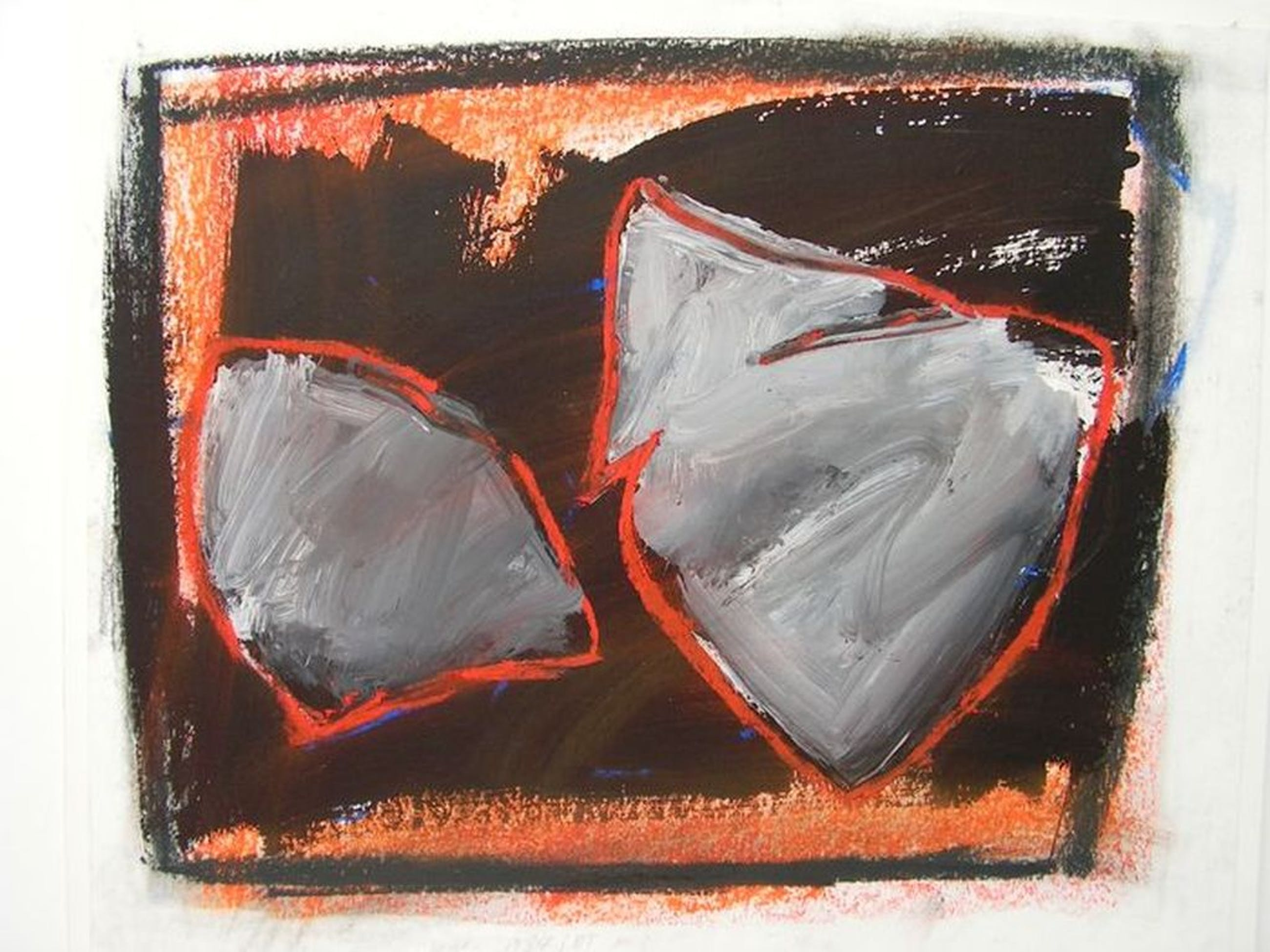 Marc Pijnappels - Abstract - Gemengde techniek op papier - gesigneerd - 1984/85 kopen? Bied vanaf 1!